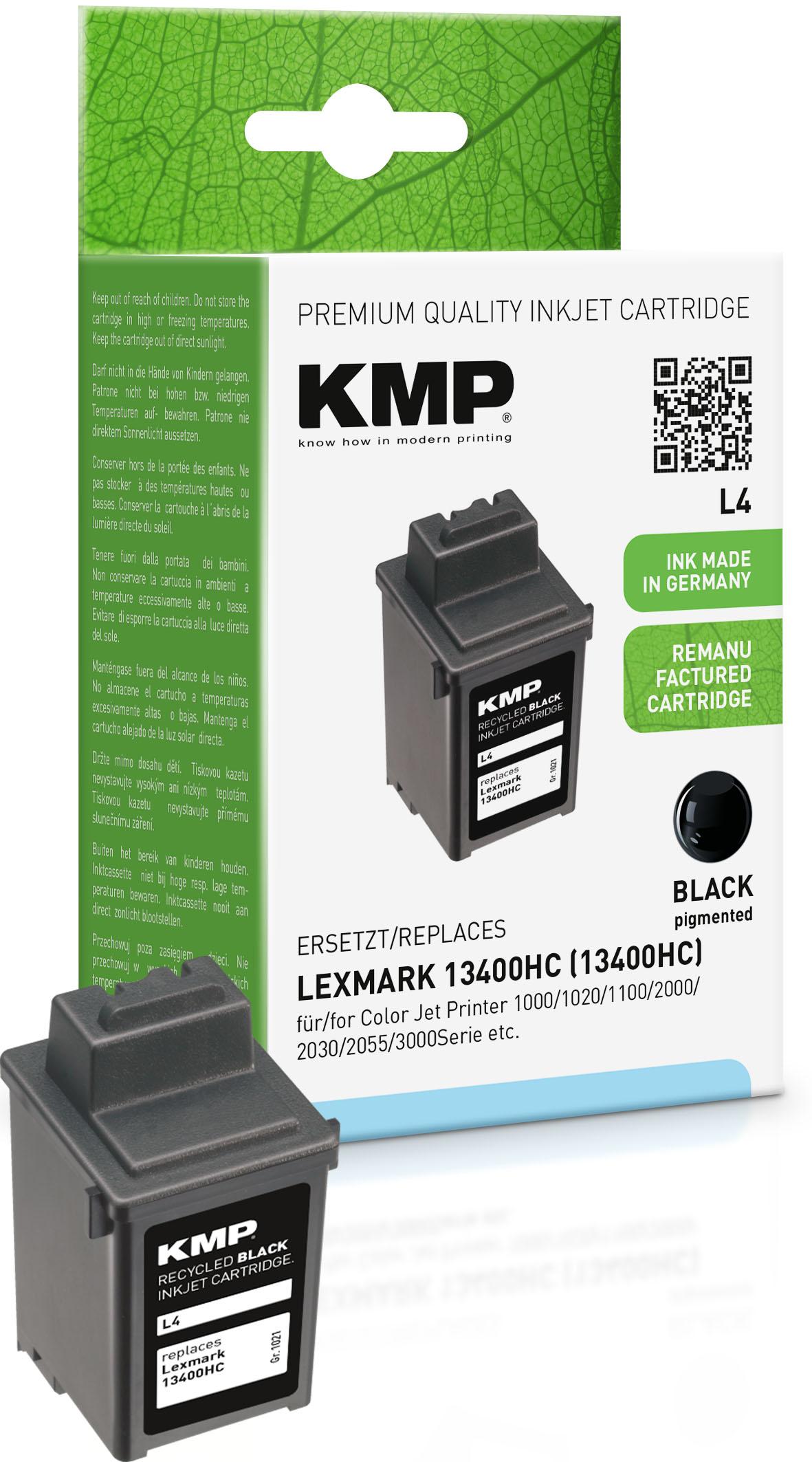 KMP Tintendruckkopf Pigmentierte Tinte schwarz (1021,4001, L4)