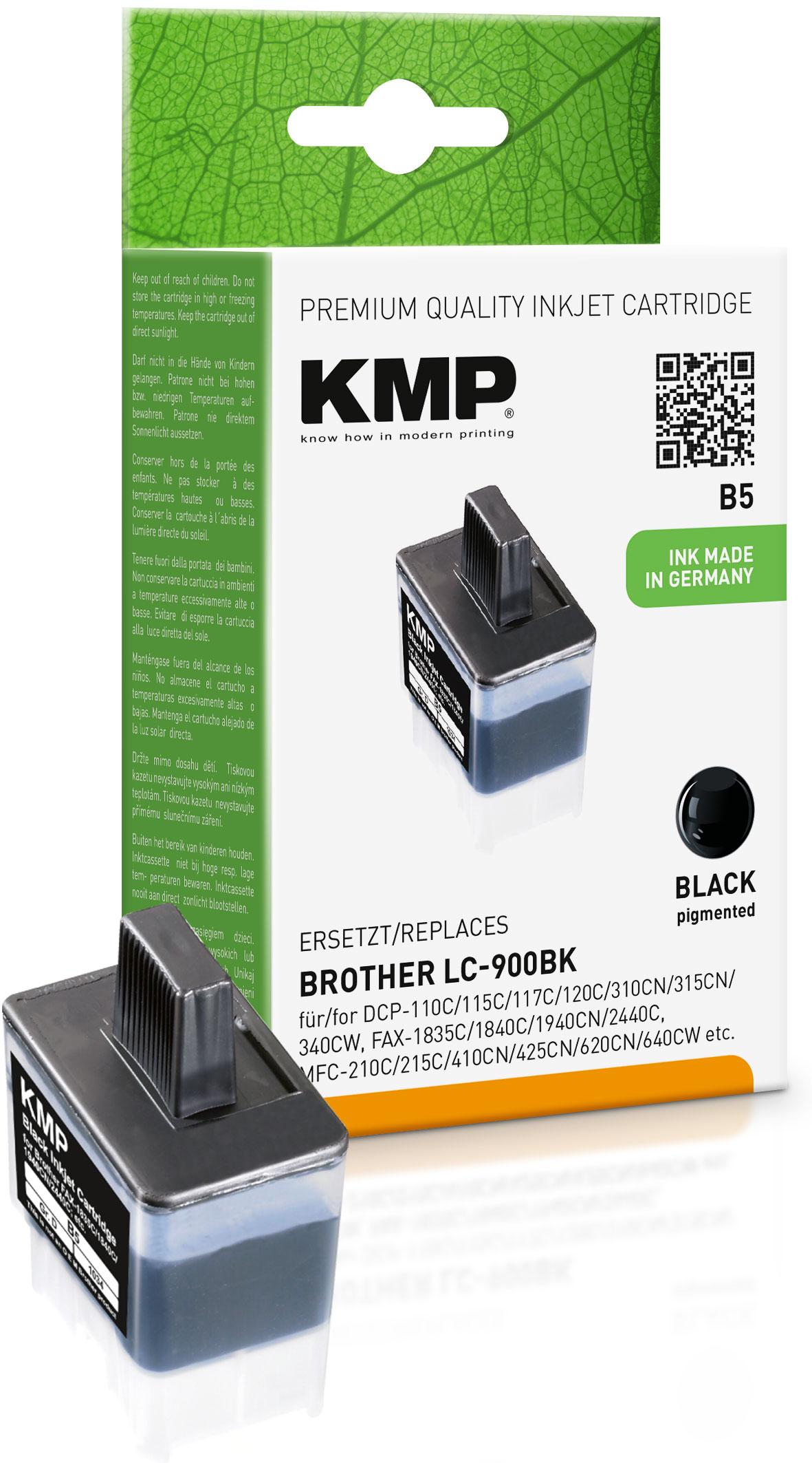 KMP Tintenpatrone schwarz (1034,0001, B5)