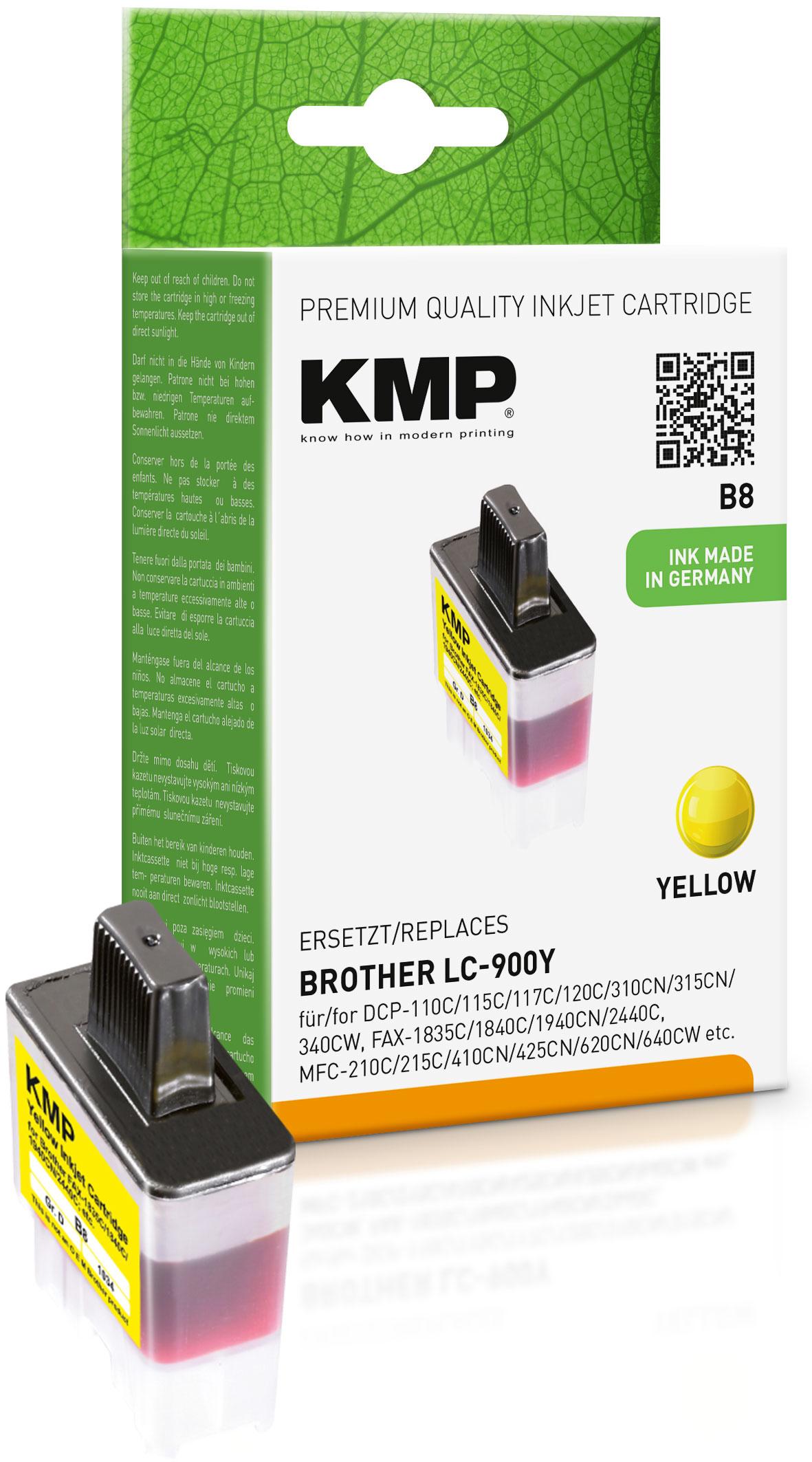 KMP Tintenpatrone gelb (1034,0009, B8)