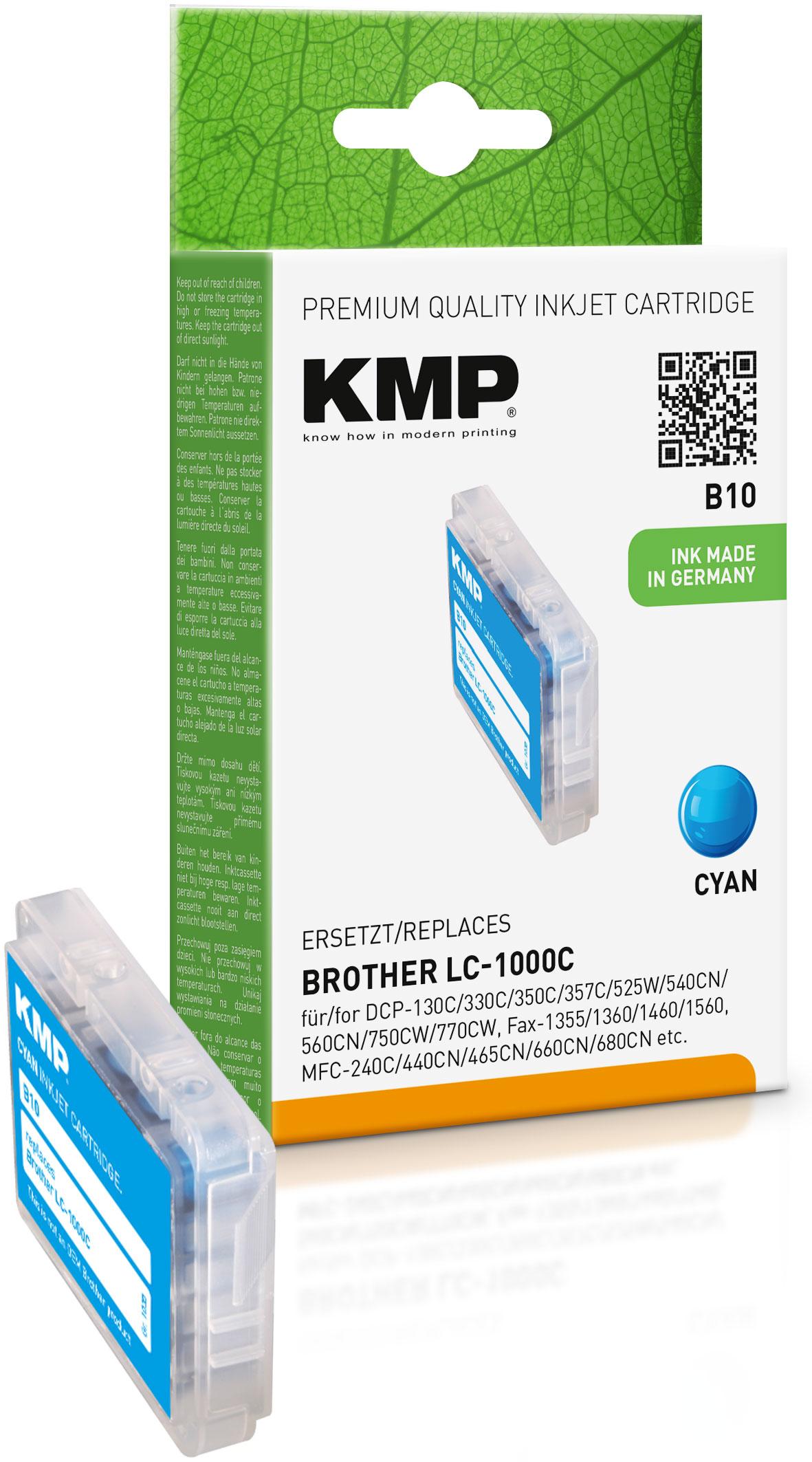 KMP Tintenpatrone cyan (1035,0003, B10)