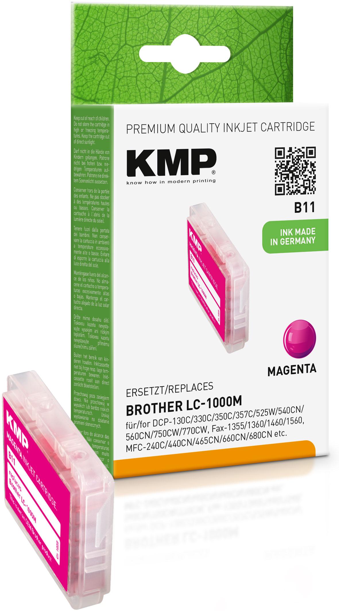 KMP Tintenpatrone magenta (1035,0006, B11)
