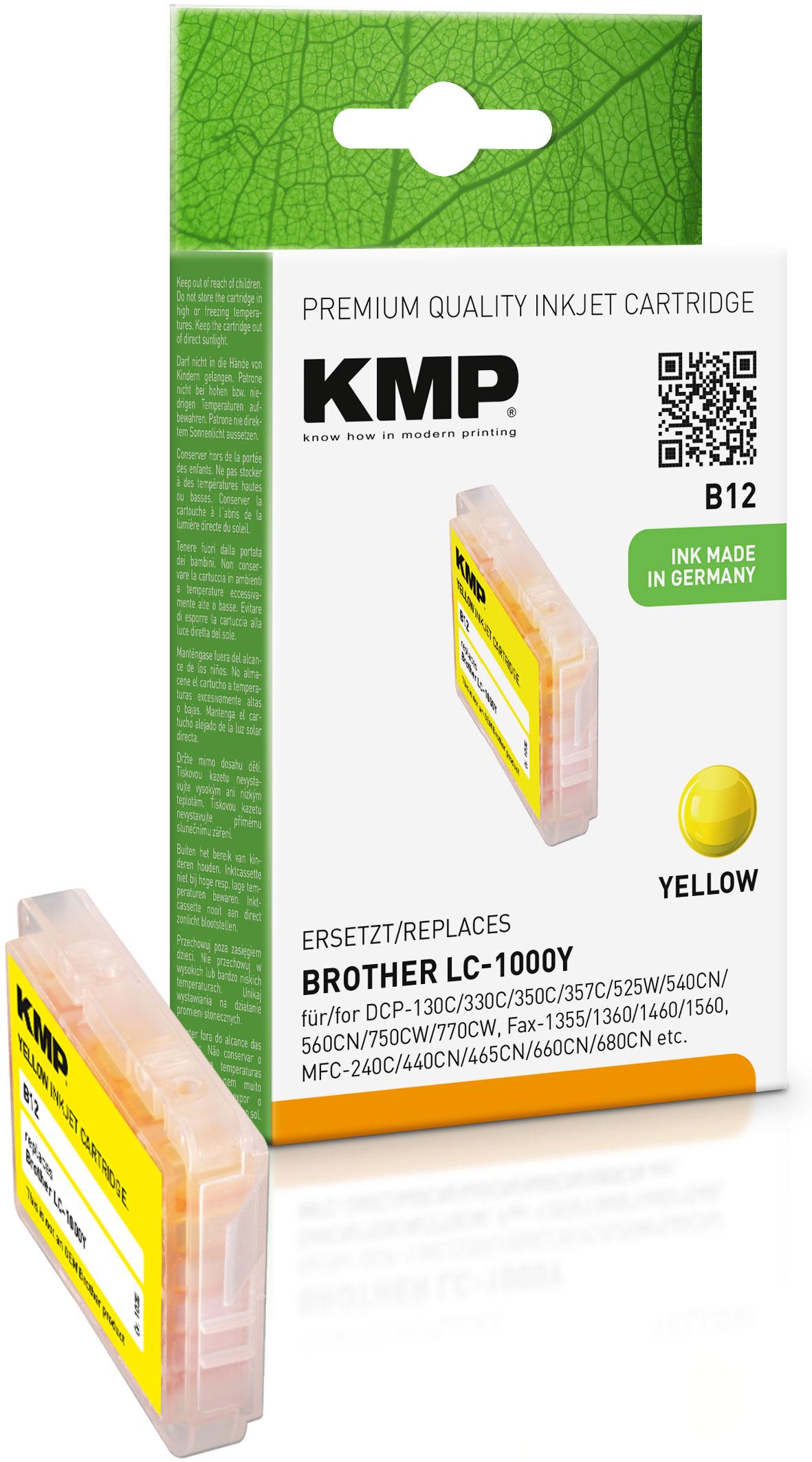 KMP Tintenpatrone gelb (1035,0009, B12)