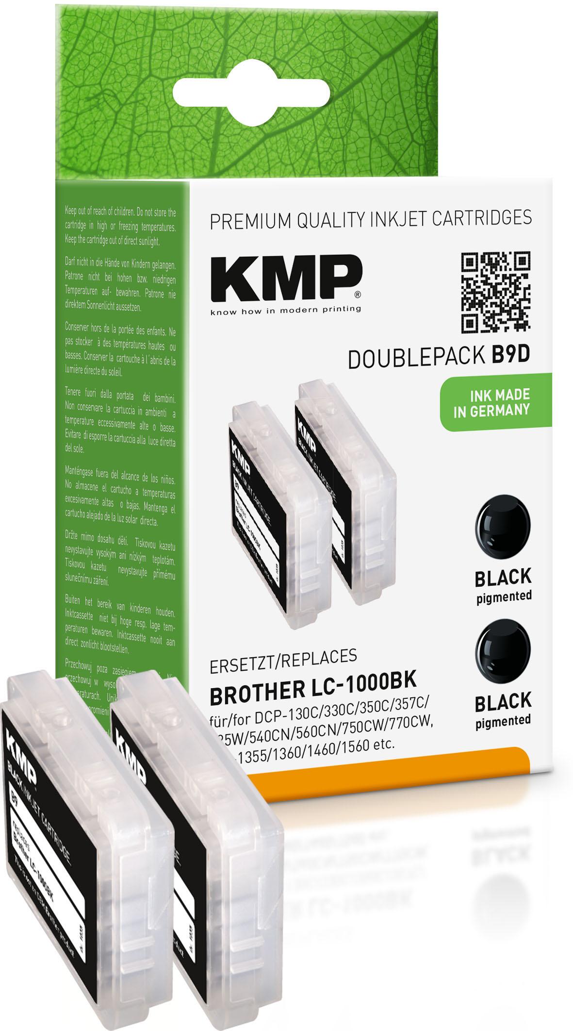 KMP Tintenpatrone 2x schwarz 2-er Pack (1035,0021, B9D)