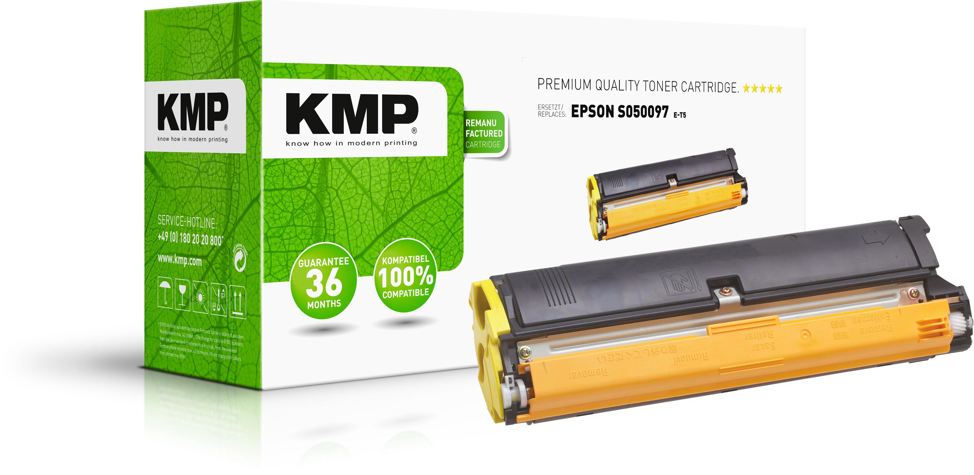 KMP Toner-Kartusche gelb HC (1181,0009, E-T5)