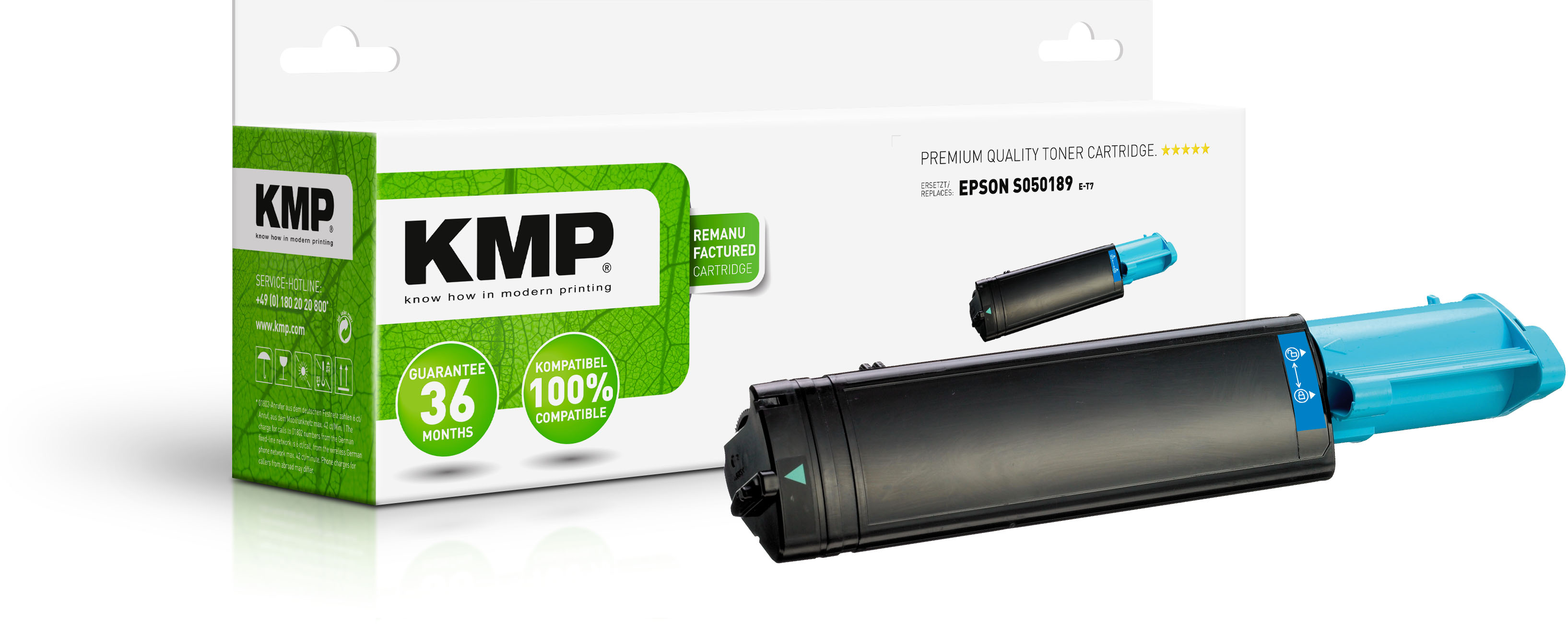 KMP Toner-Kartusche cyan HC (1184,0003, E-T7)