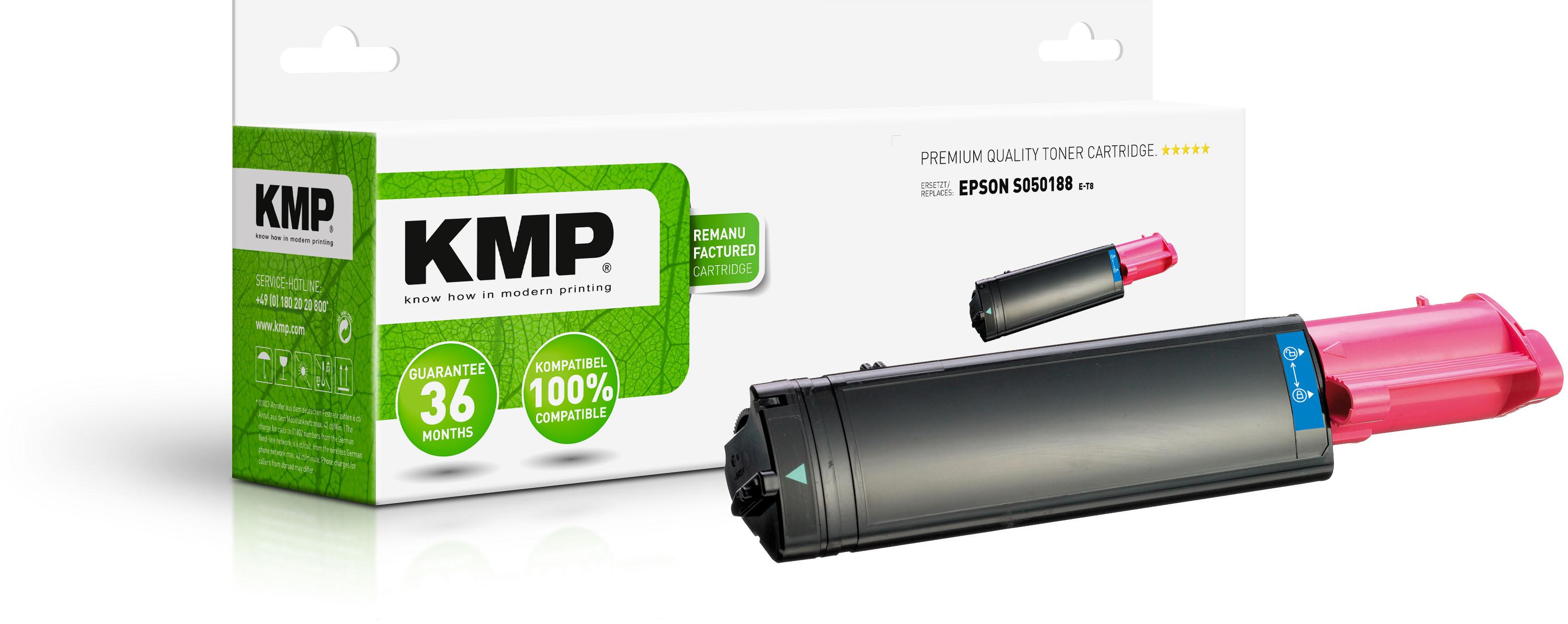KMP Toner-Kartusche magenta HC (1184,0006, E-T8)