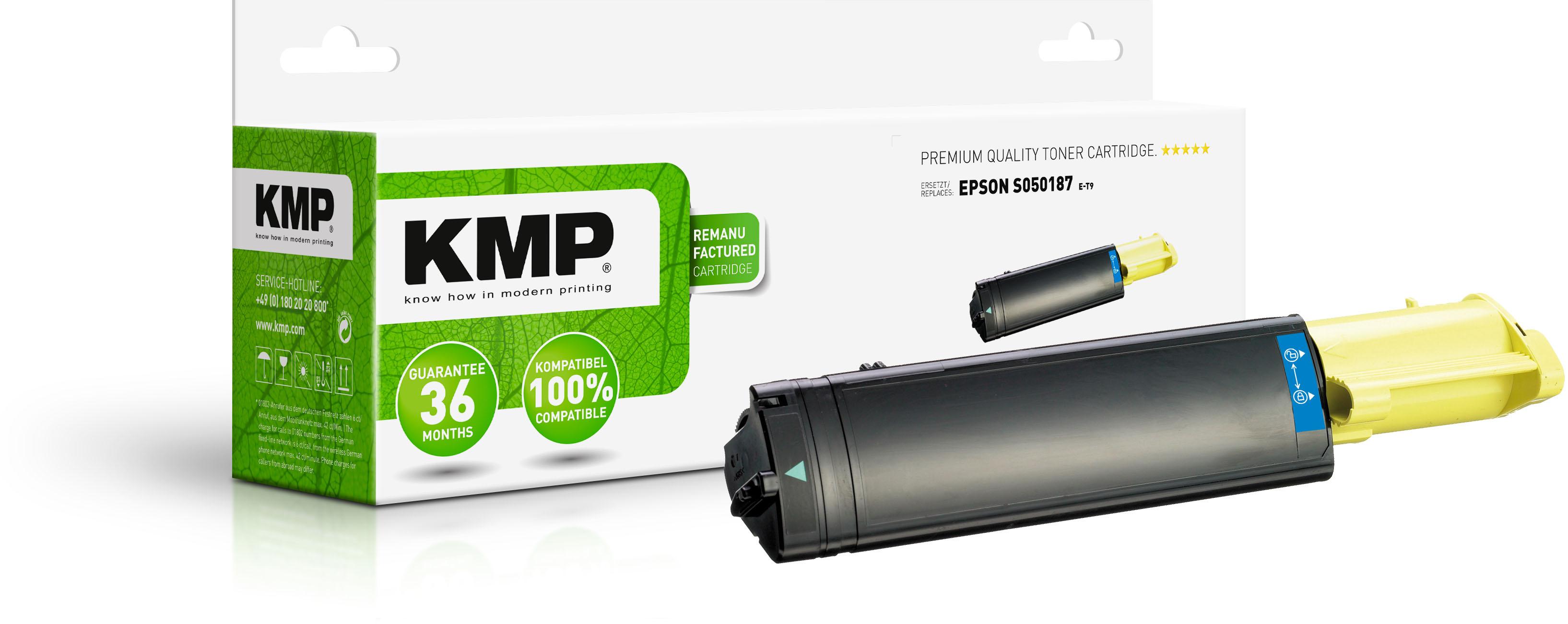 KMP Toner-Kartusche gelb HC (1184,0009, E-T9)