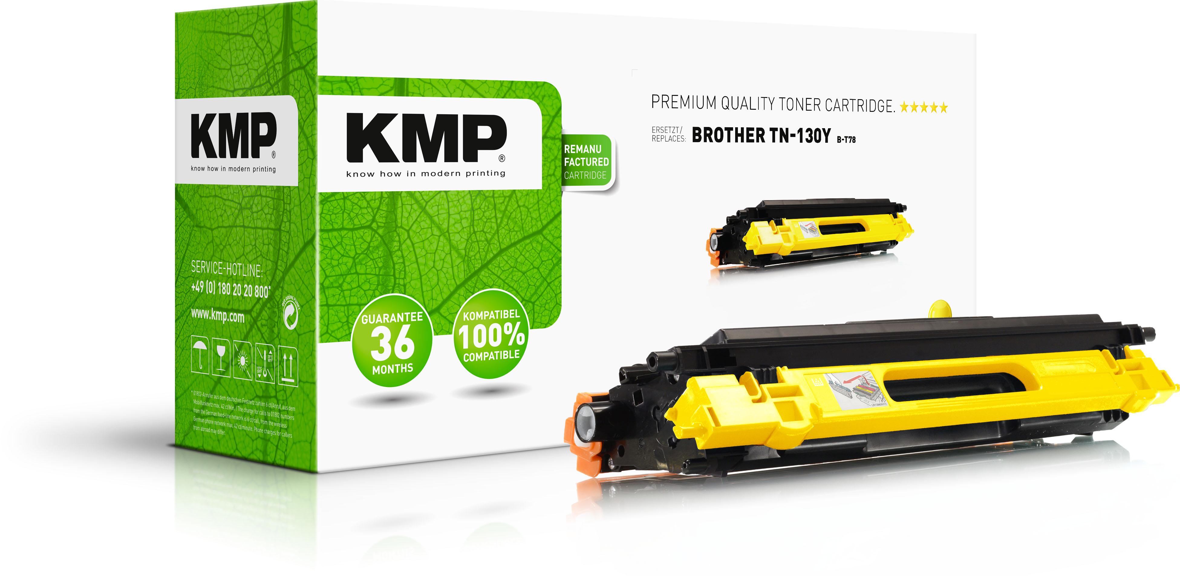 KMP Toner-Kit gelb (1241,0009, B-T78)
