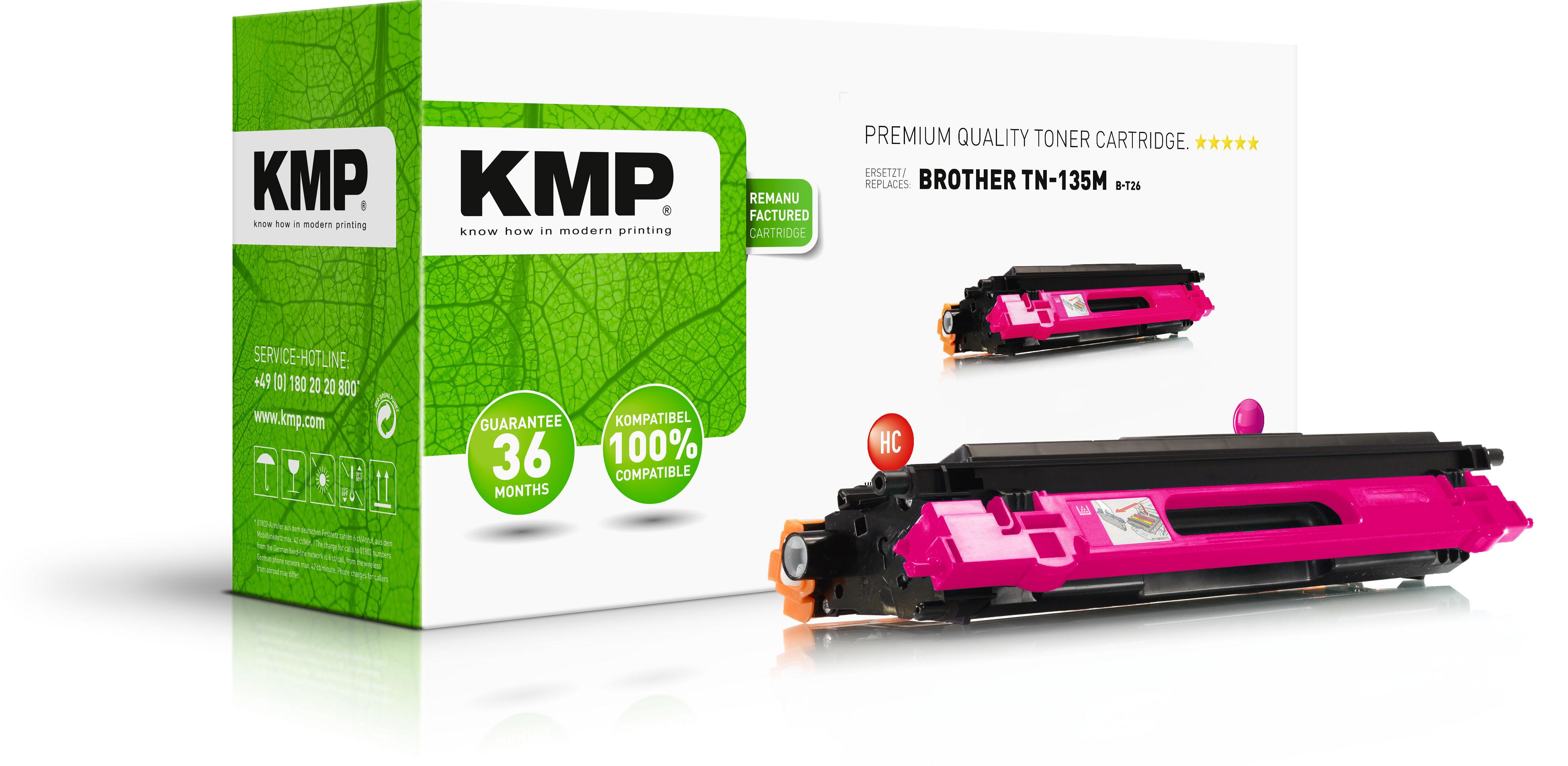 KMP Toner-Kit magenta HC (1241,HC06, B-T26)