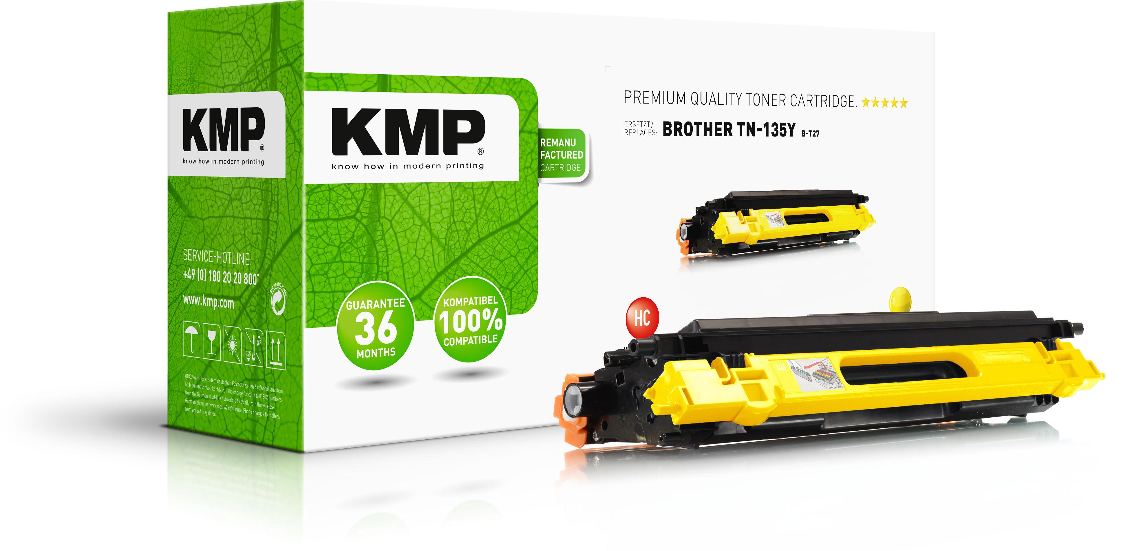 KMP Toner-Kit gelb HC (1241,HC09, B-T27)