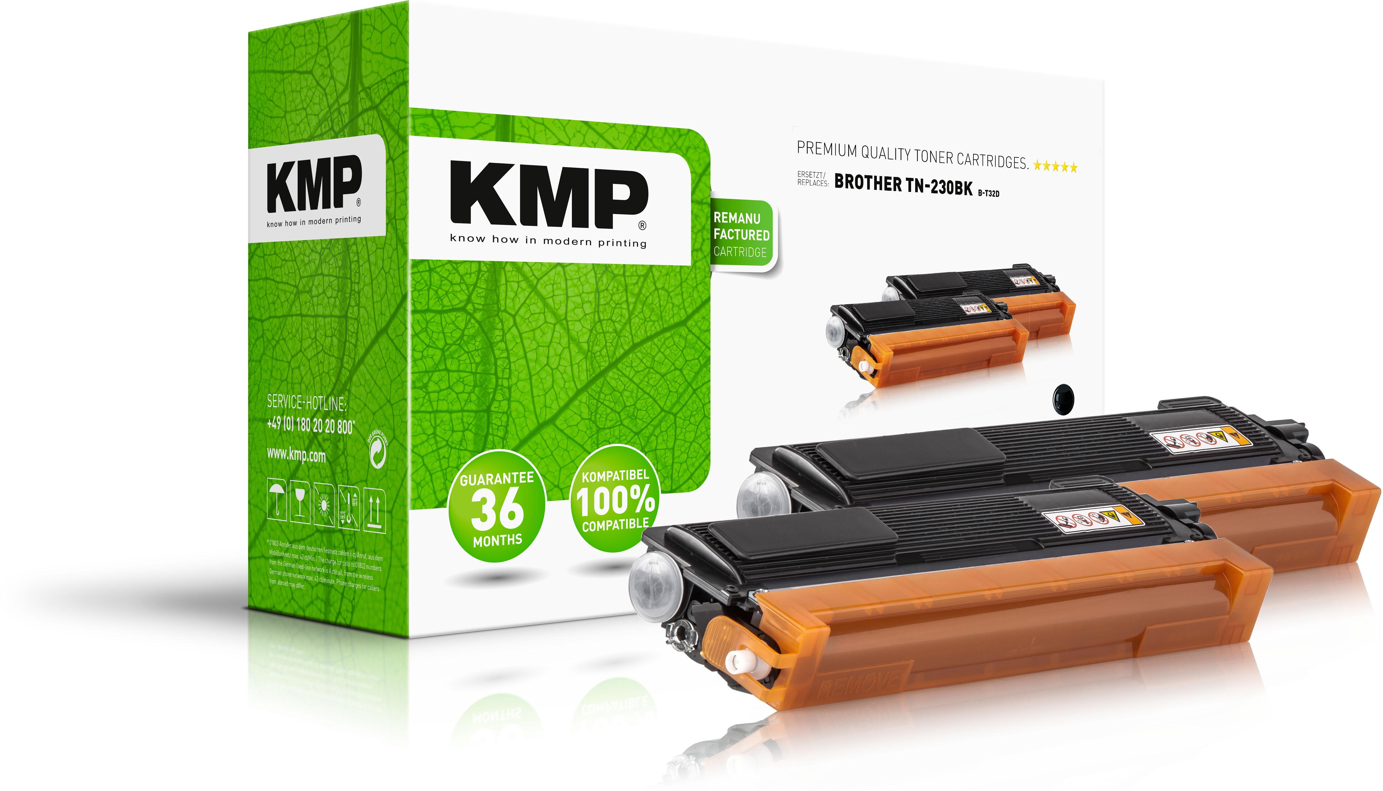 KMP Toner-Kit 2x schwarz (1242,0021, B-T32D)