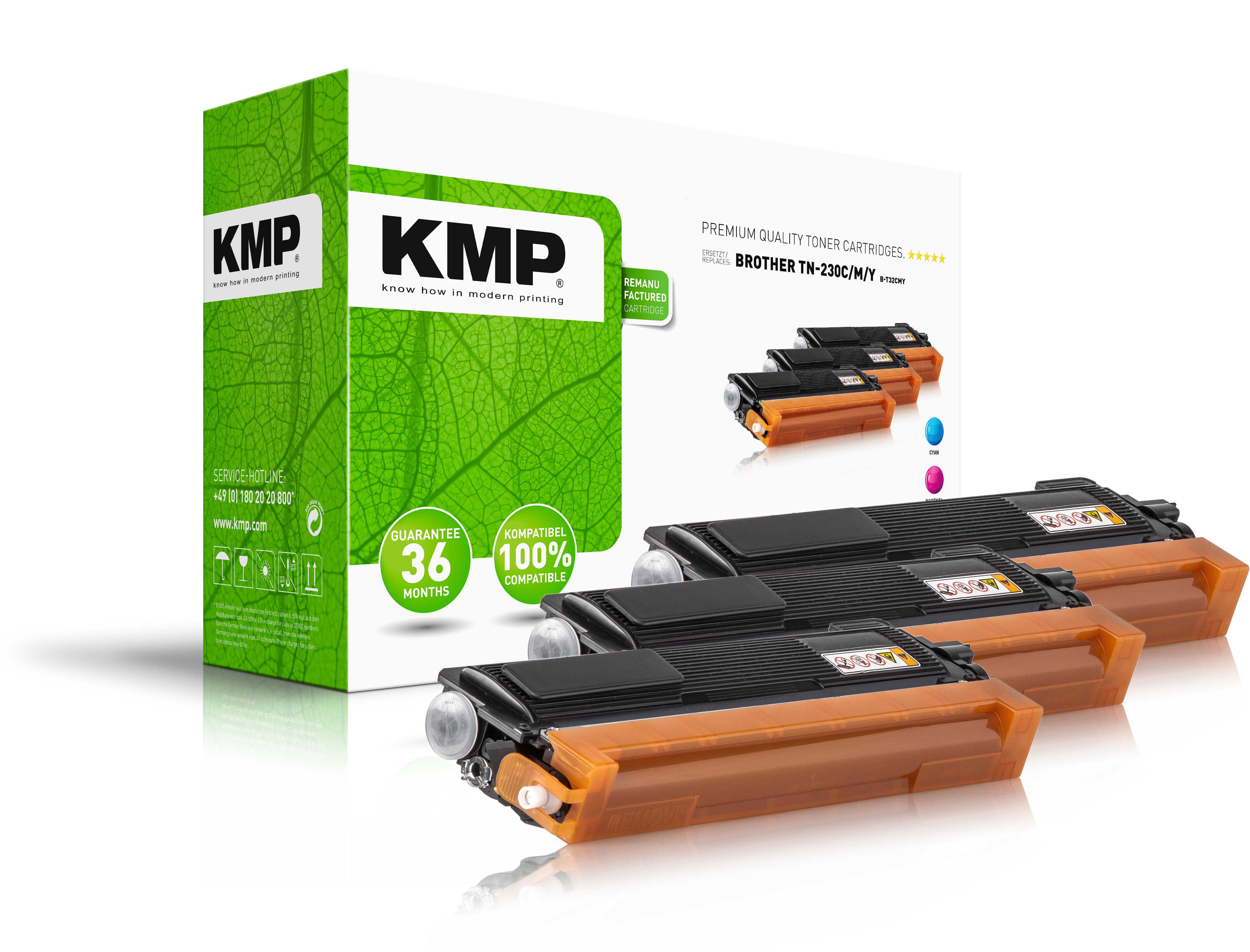 KMP Toner-Kit gelb cyan magenta (1242,0030, B-T32CMY)