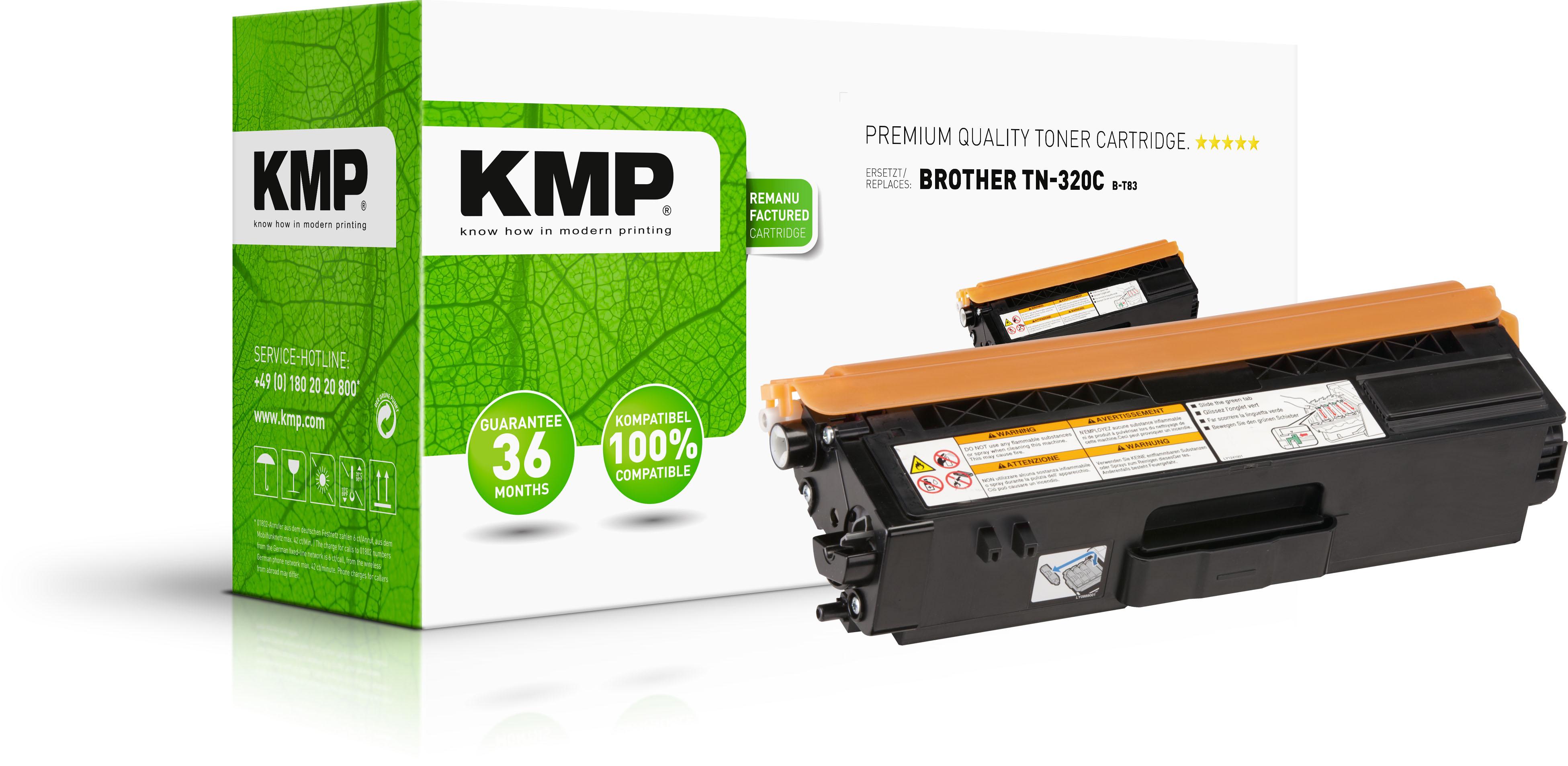KMP Toner-Kit cyan (1243,0003, B-T83)