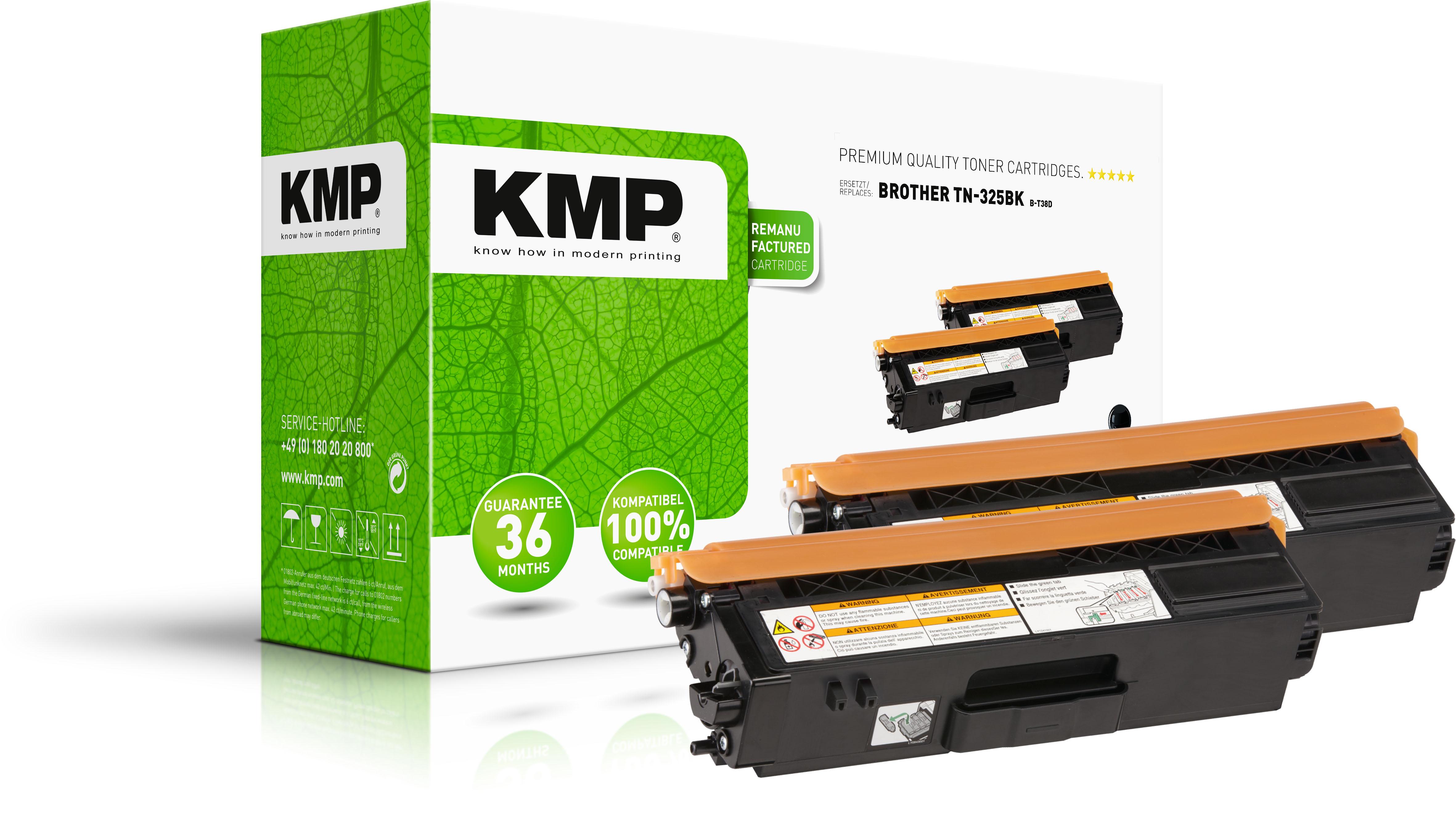 KMP Toner-Kit 2x schwarz HC (1243,HC21, B-T38D)
