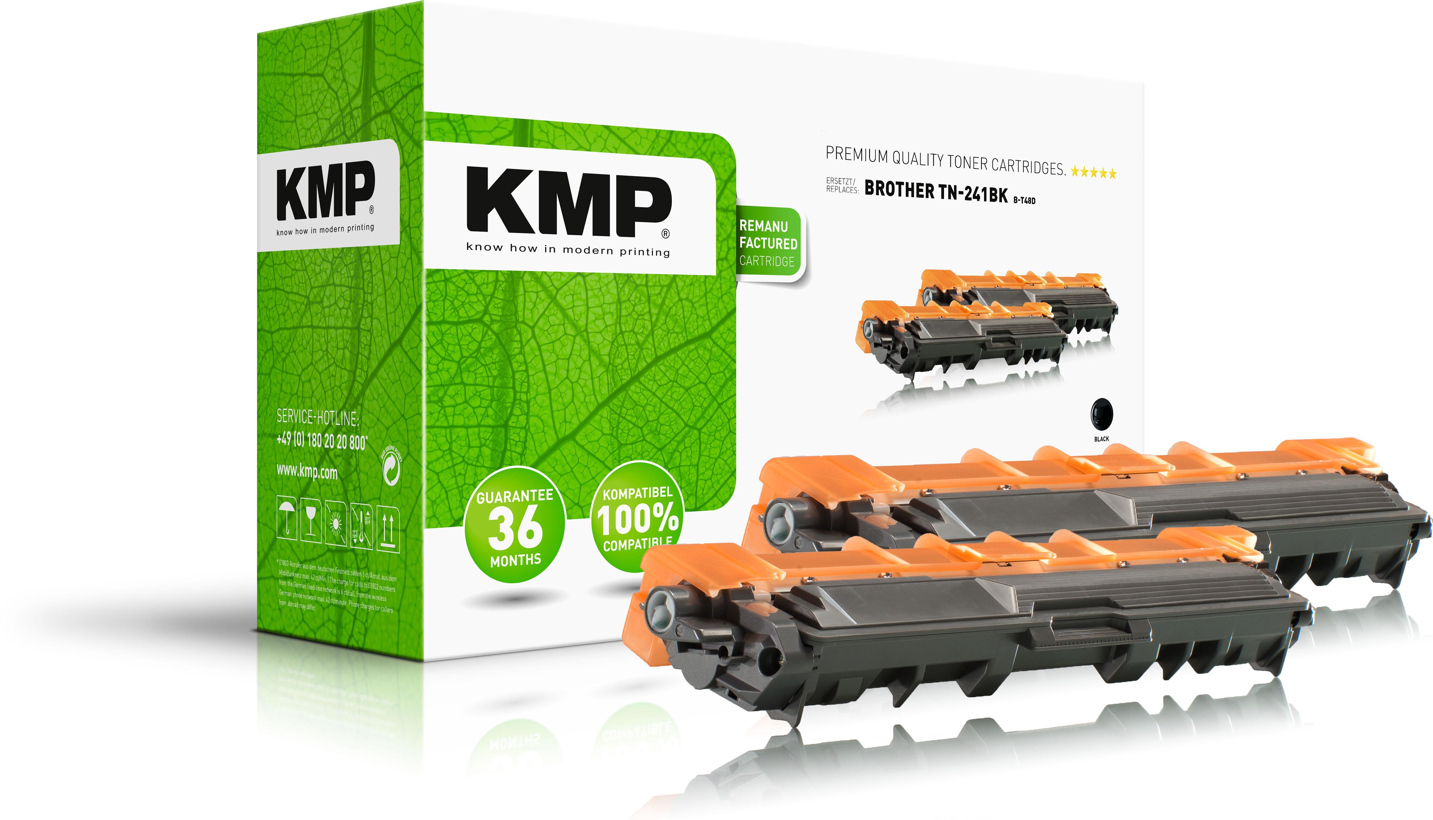KMP Toner-Kit 2x schwarz (1245,0021, B-T48D)