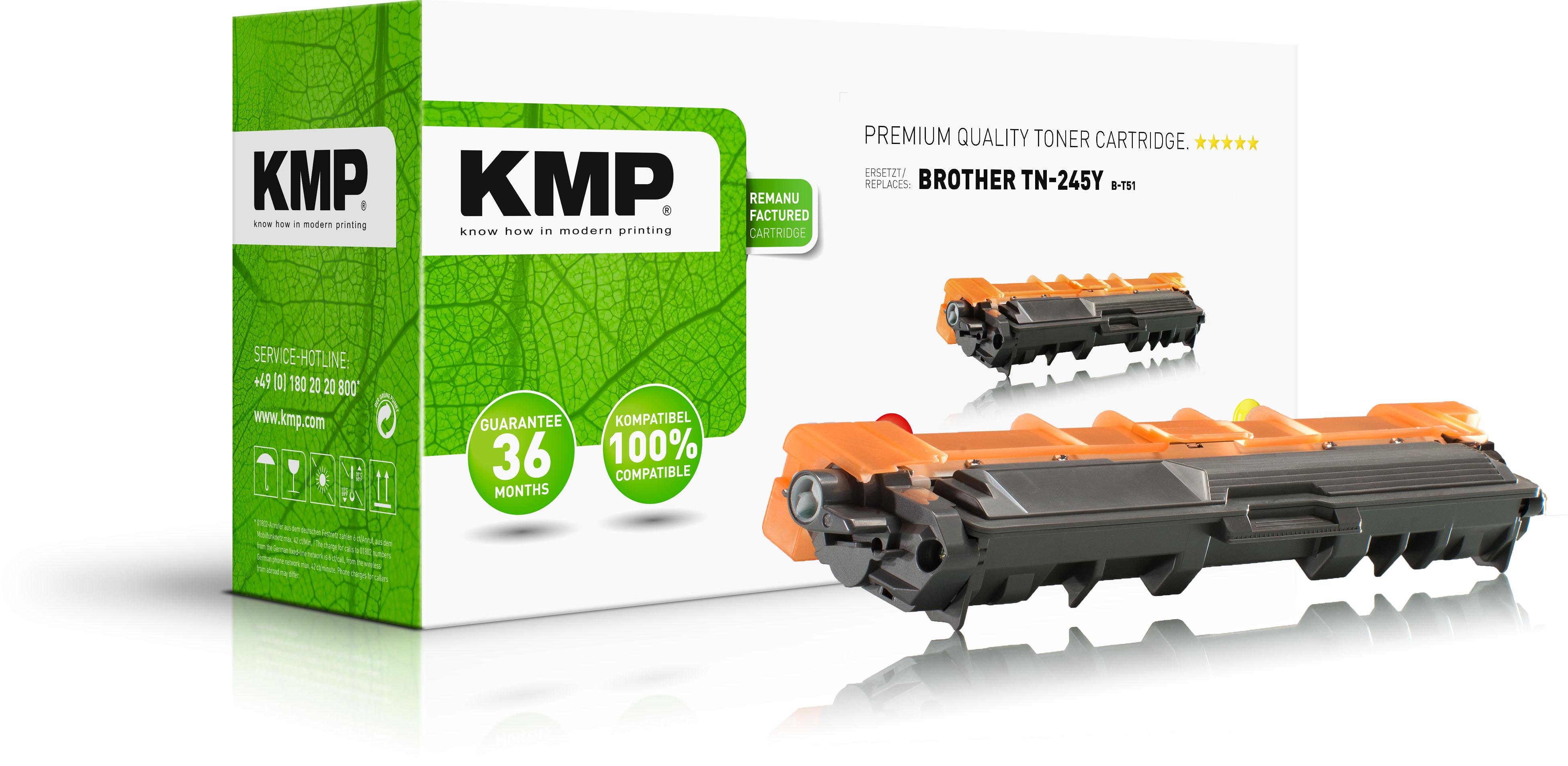 KMP Toner-Kit gelb HC (1245,3009, B-T51)