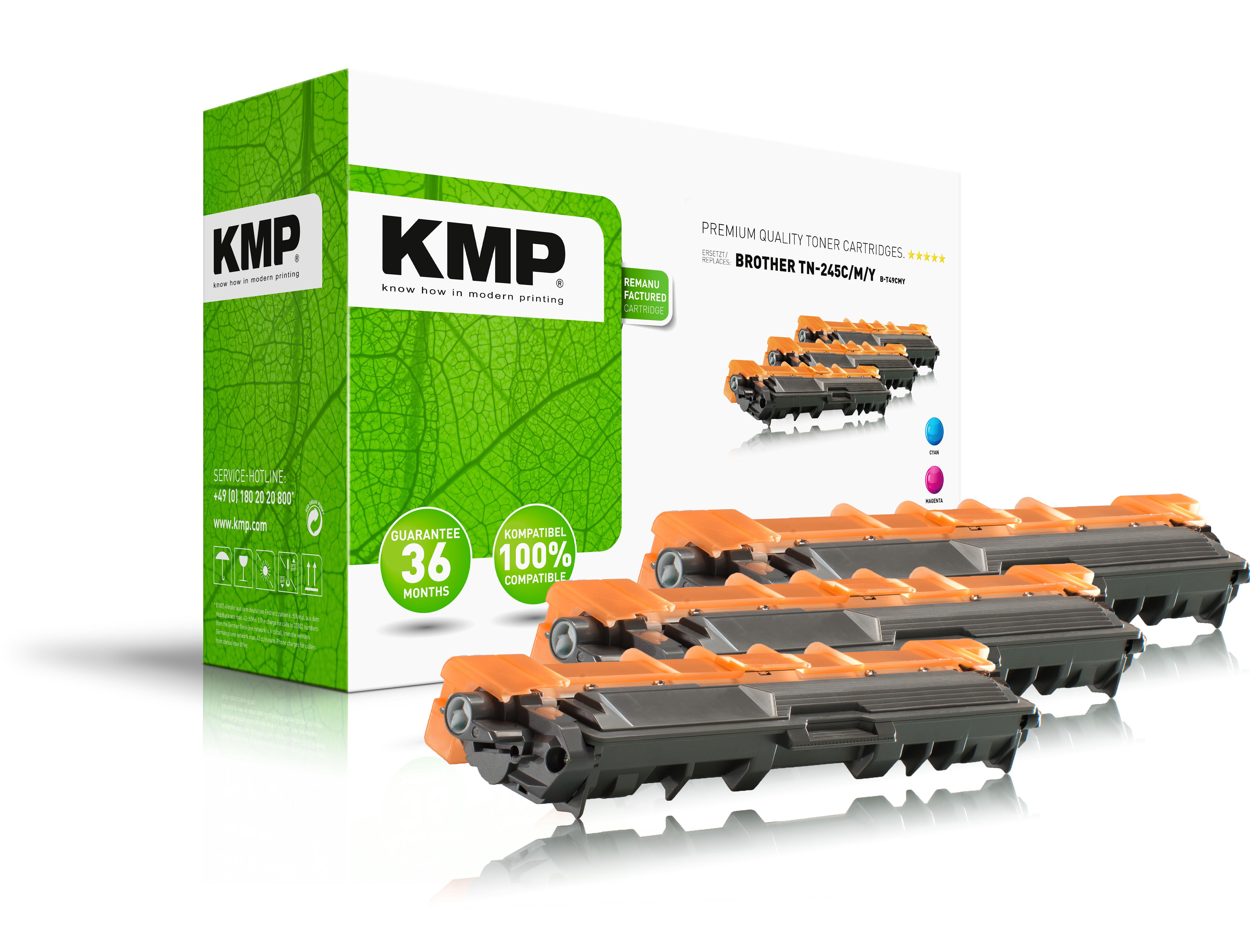 KMP Toner-Kit gelb cyan magenta (1245,3030, B-T49CMY)