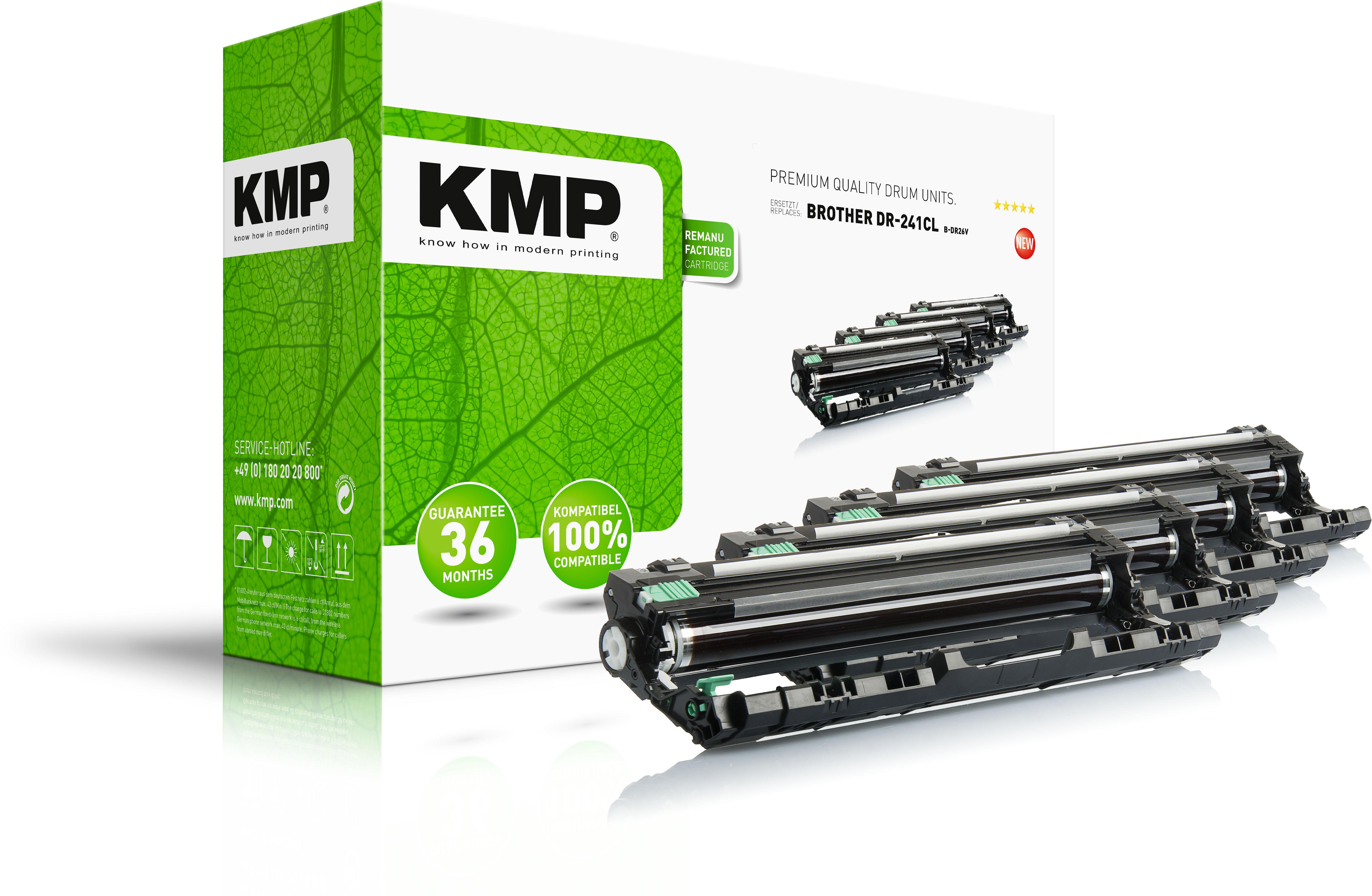 KMP Fotoleitertrommel gelb cyan magenta schwarz (1245,7005, B-DR26V)