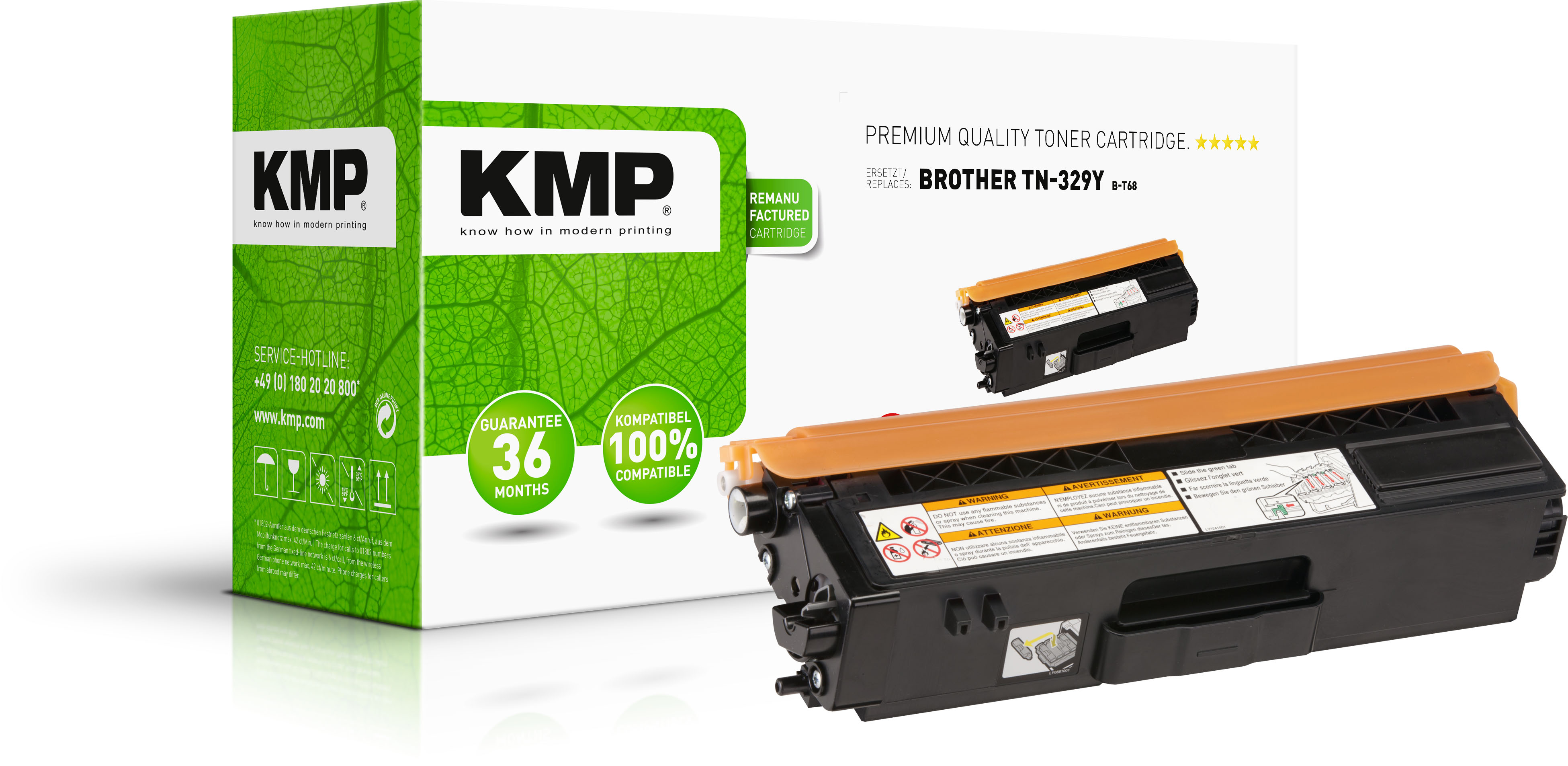 KMP Toner-Kartusche gelb (1247,3209, B-T68)