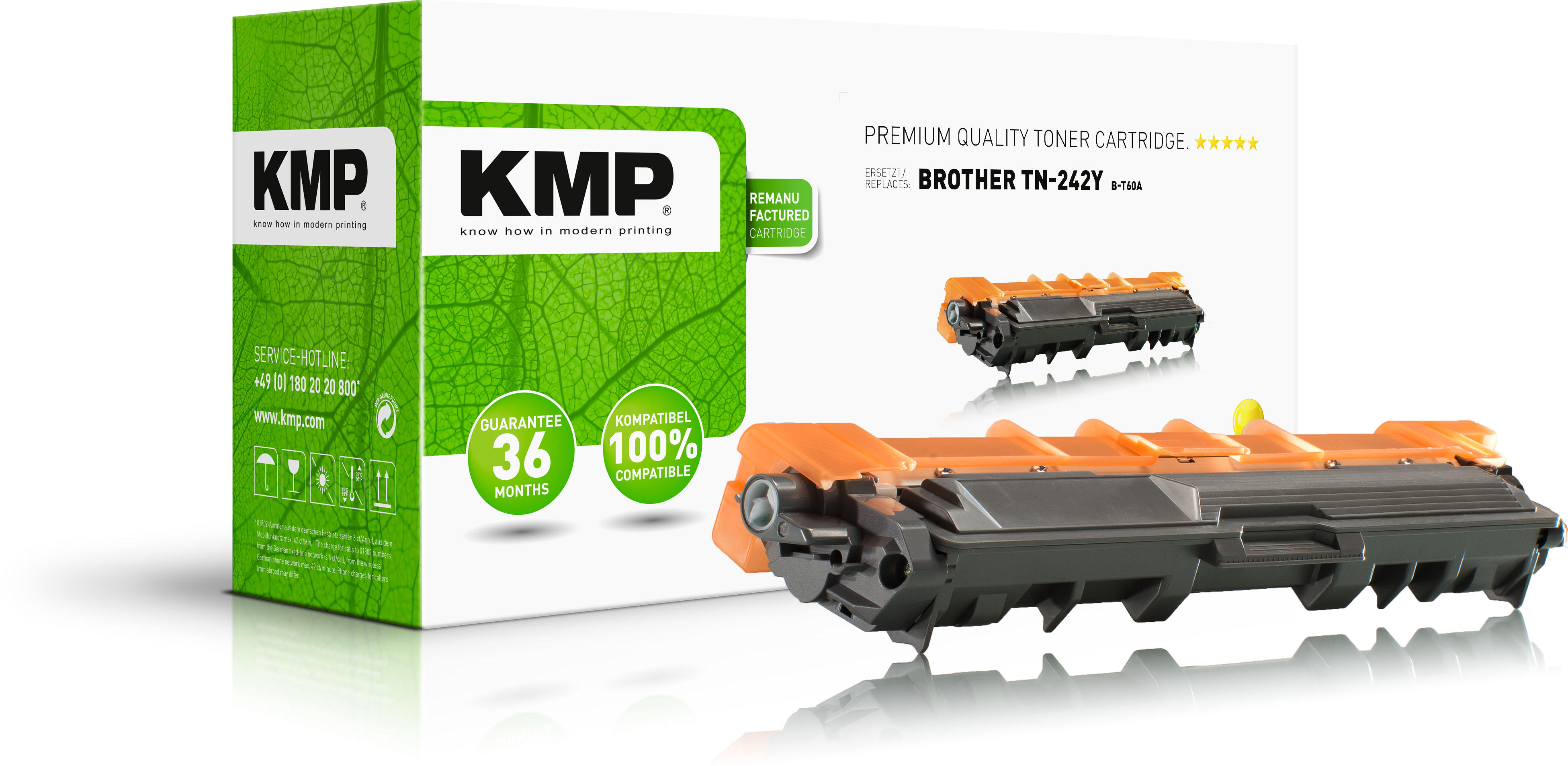 KMP Toner-Kit gelb (1248,0009, B-T60A)