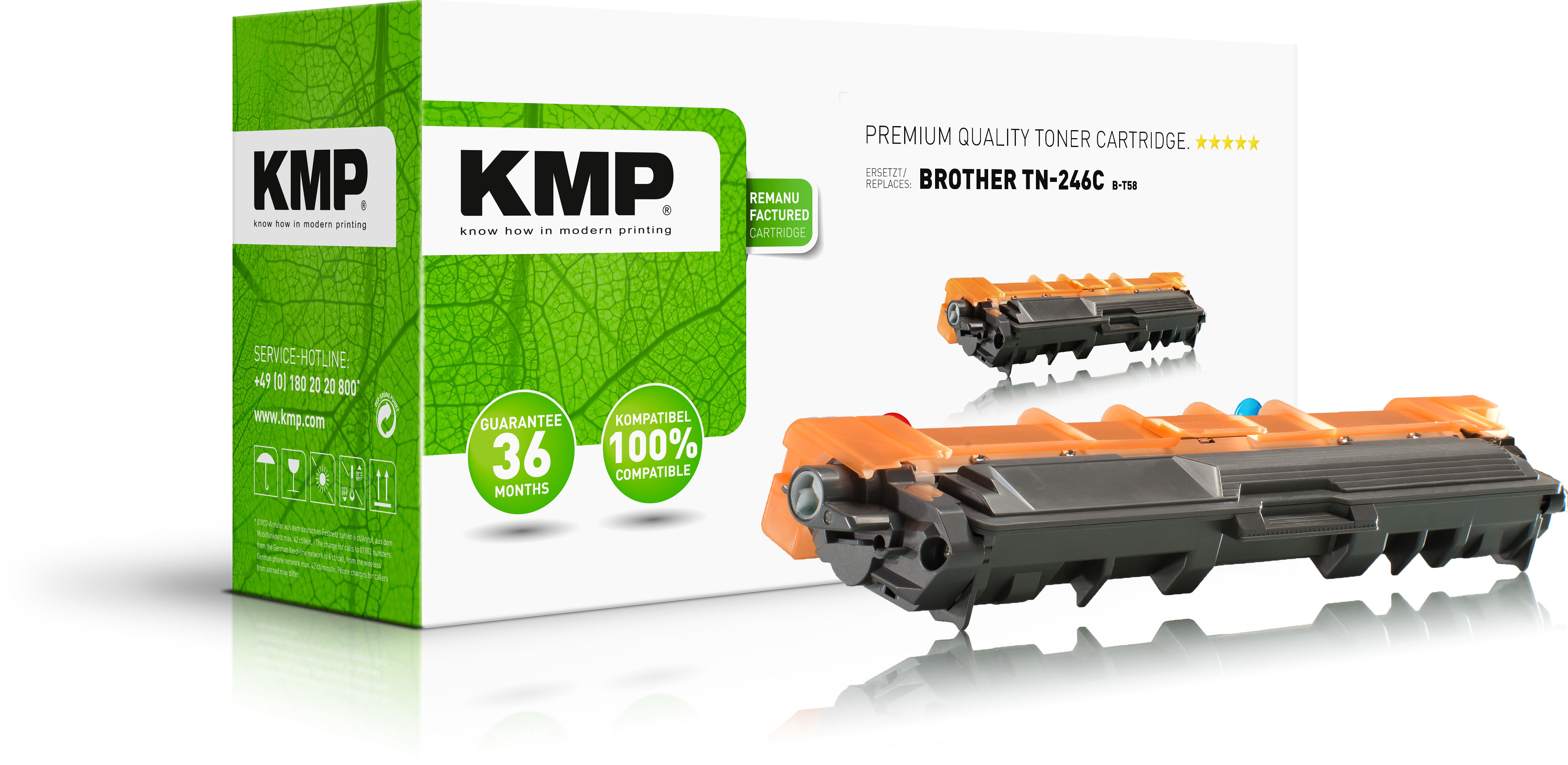 KMP Toner-Kit cyan (1248,3003, B-T58)