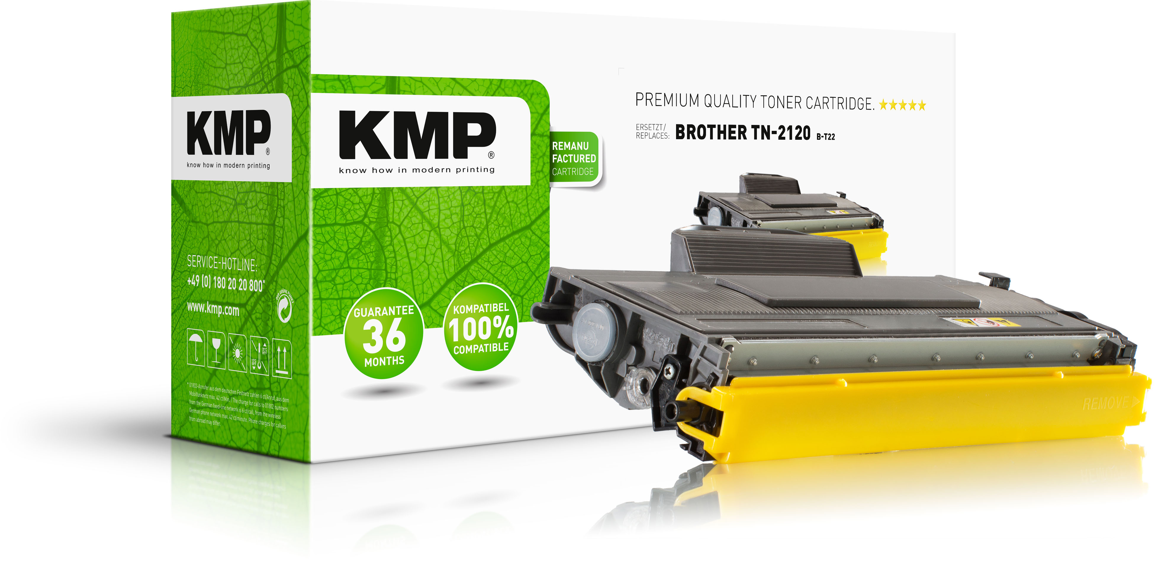 KMP Toner-Kit schwarz HC plus (1253,5000, B-T22)