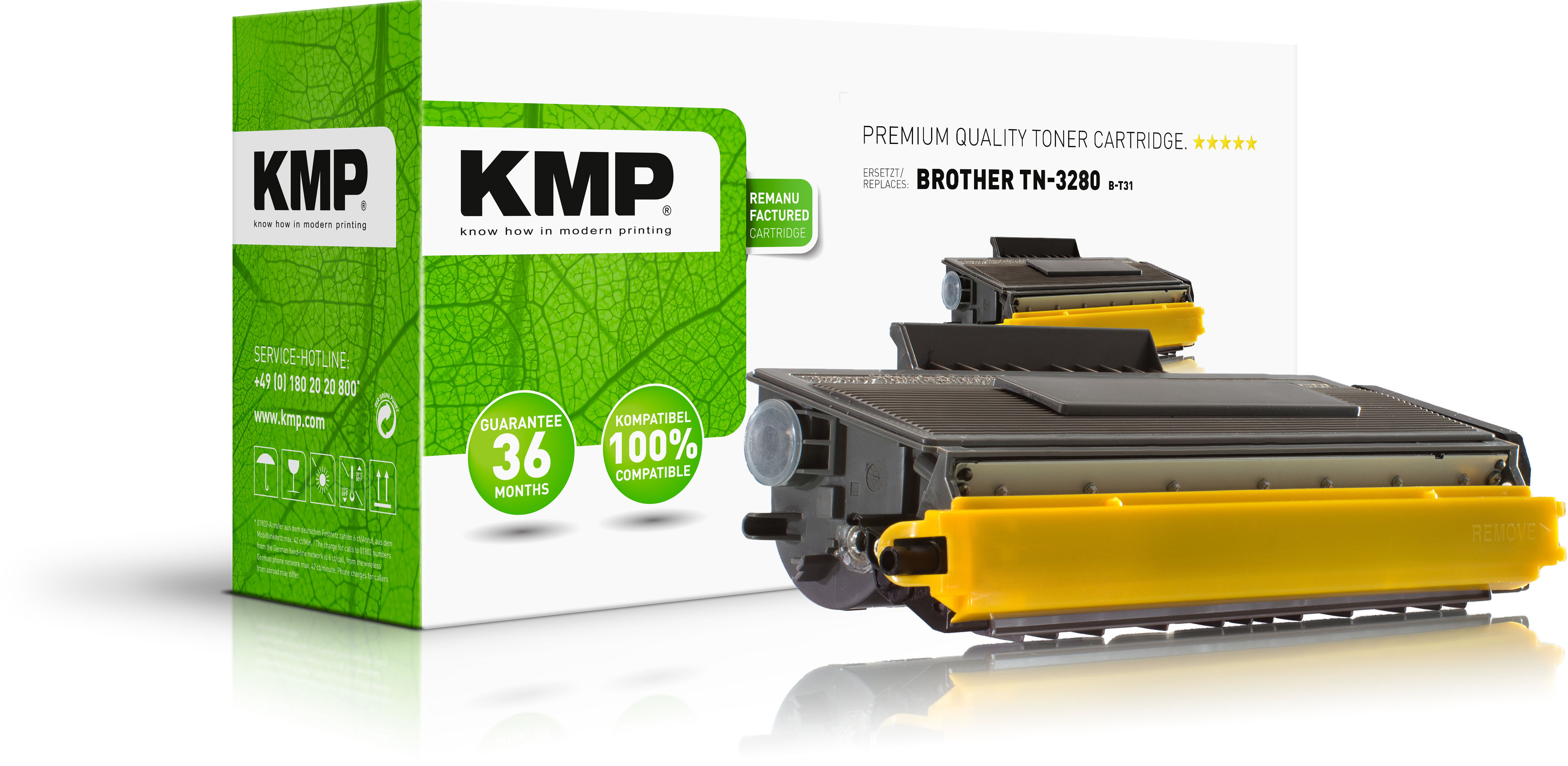 KMP Toner-Kit schwarz HC plus (1255,5000, B-T31)
