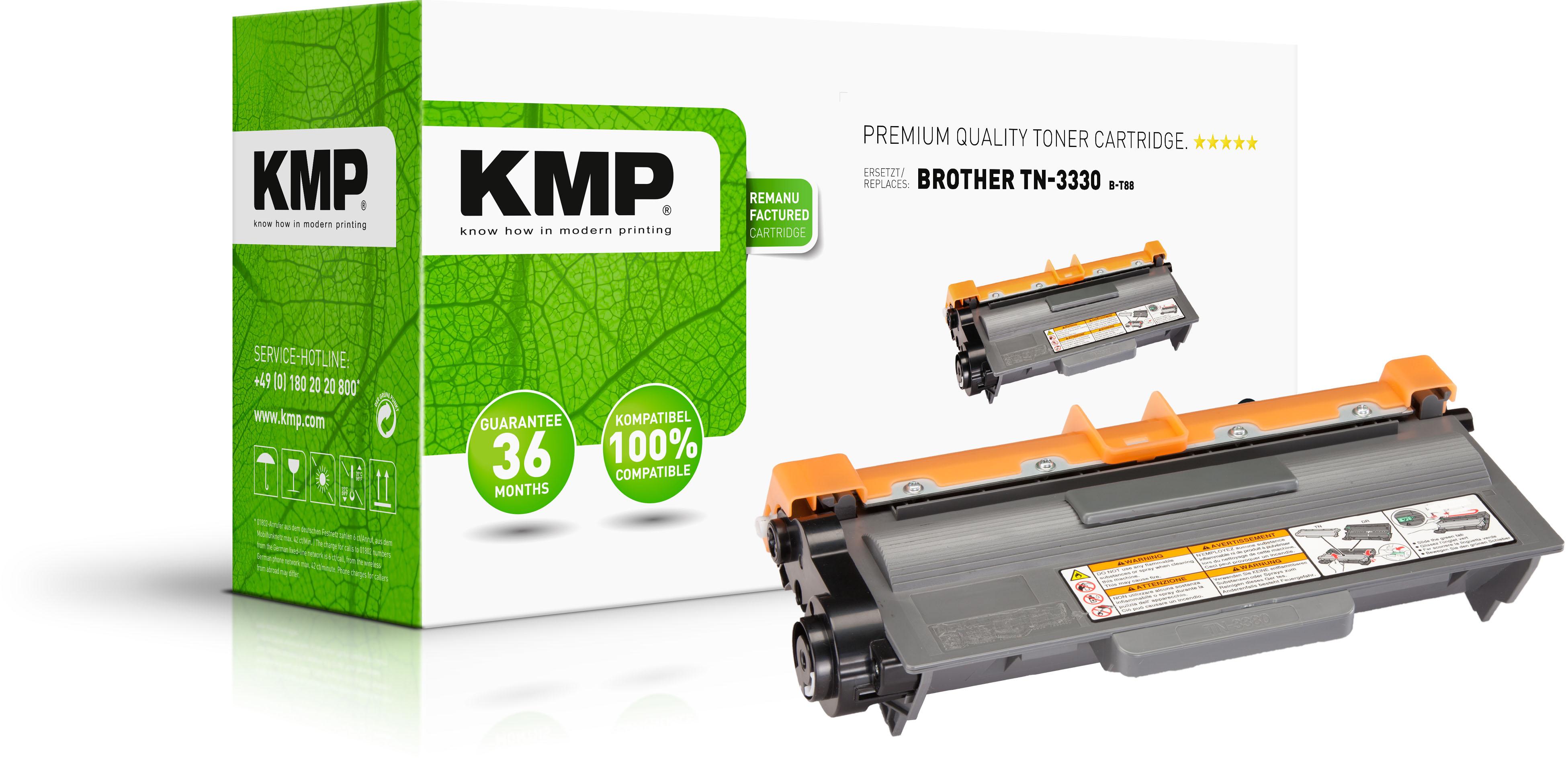 KMP Toner-Kartusche schwarz (1258,0000, B-T88)
