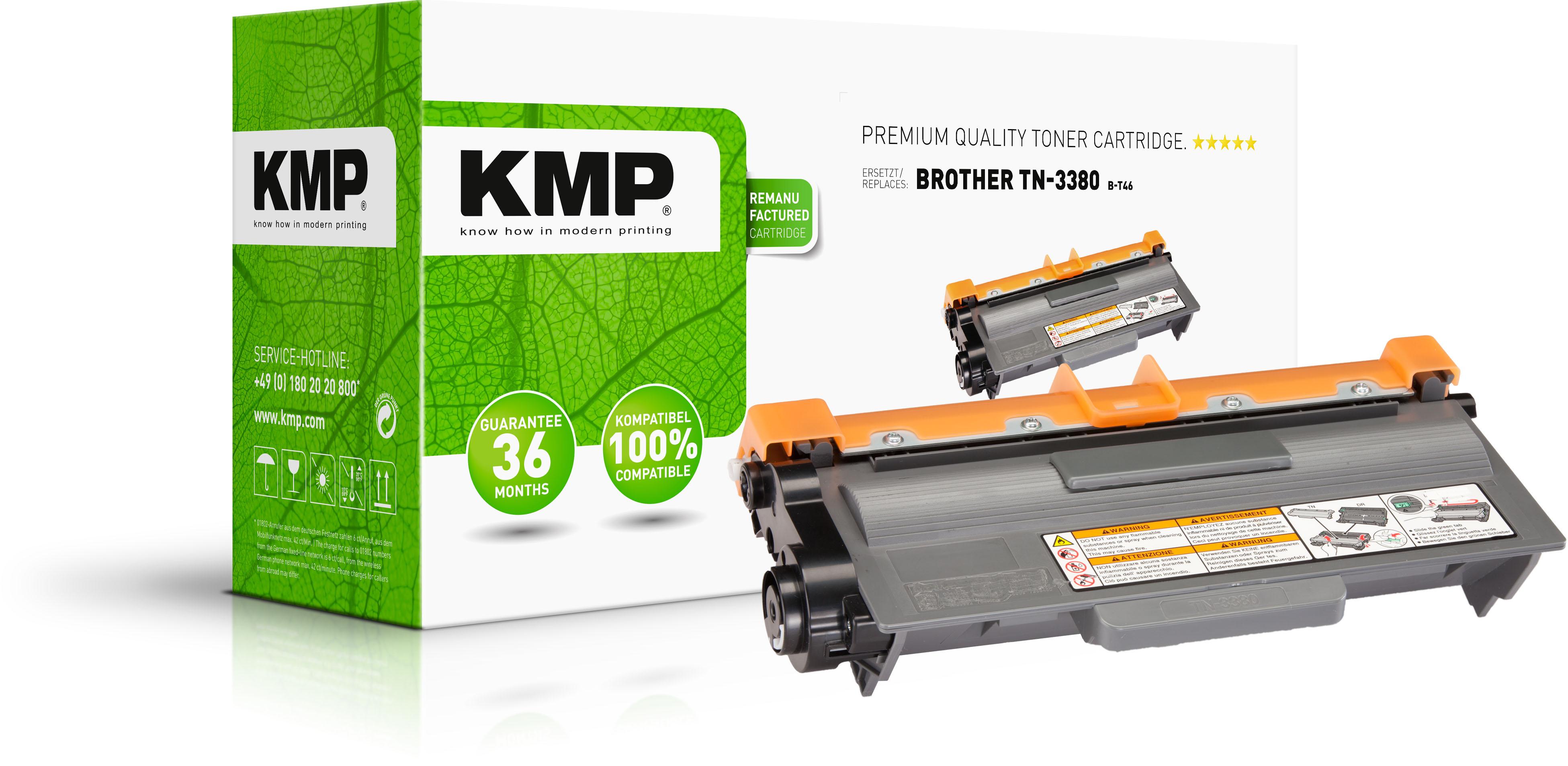 KMP Toner-Kartusche schwarz HC (1258,3000, B-T46)