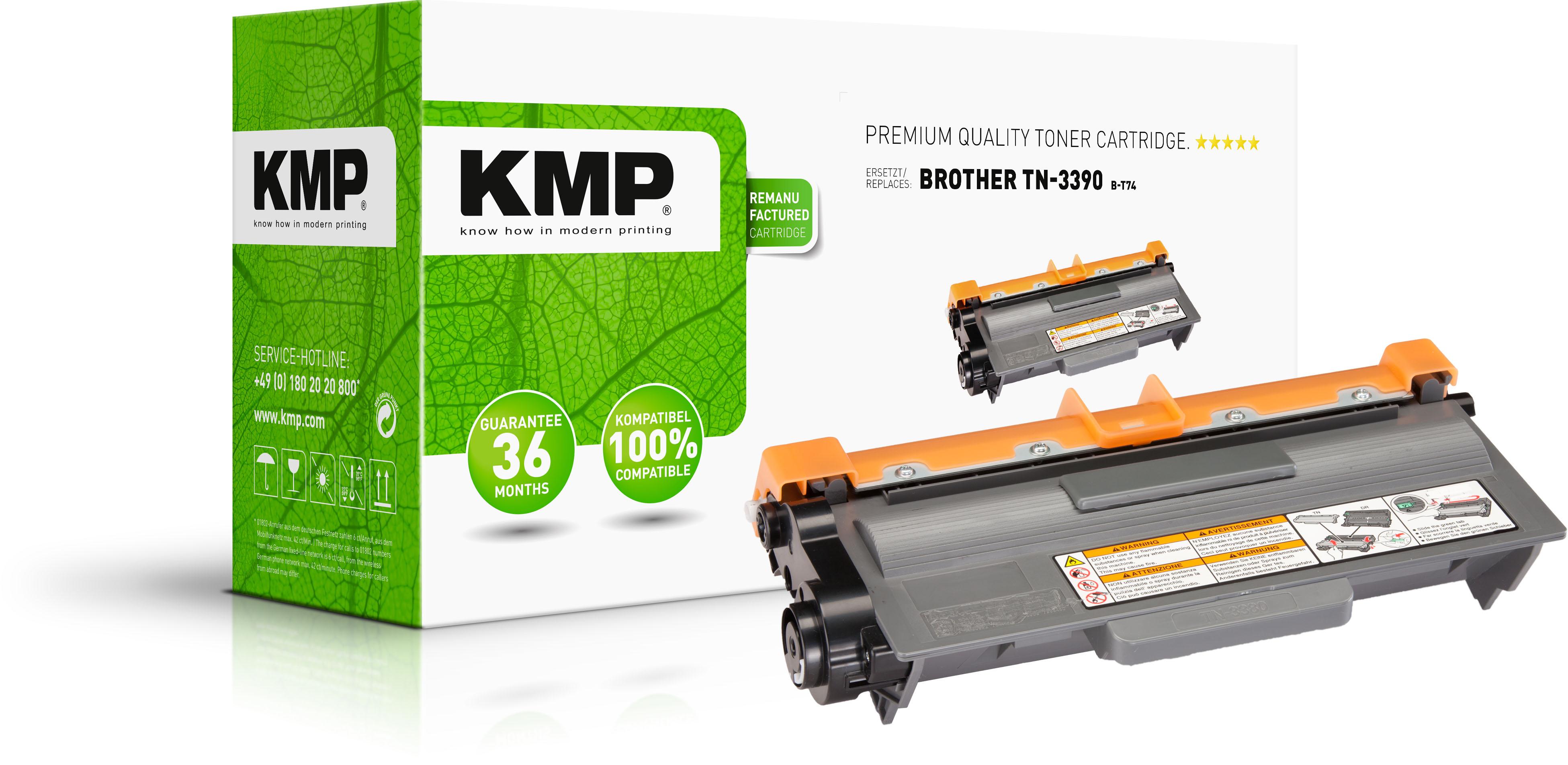 KMP Toner-Kartusche schwarz HC plus (1259,0000, B-T74)