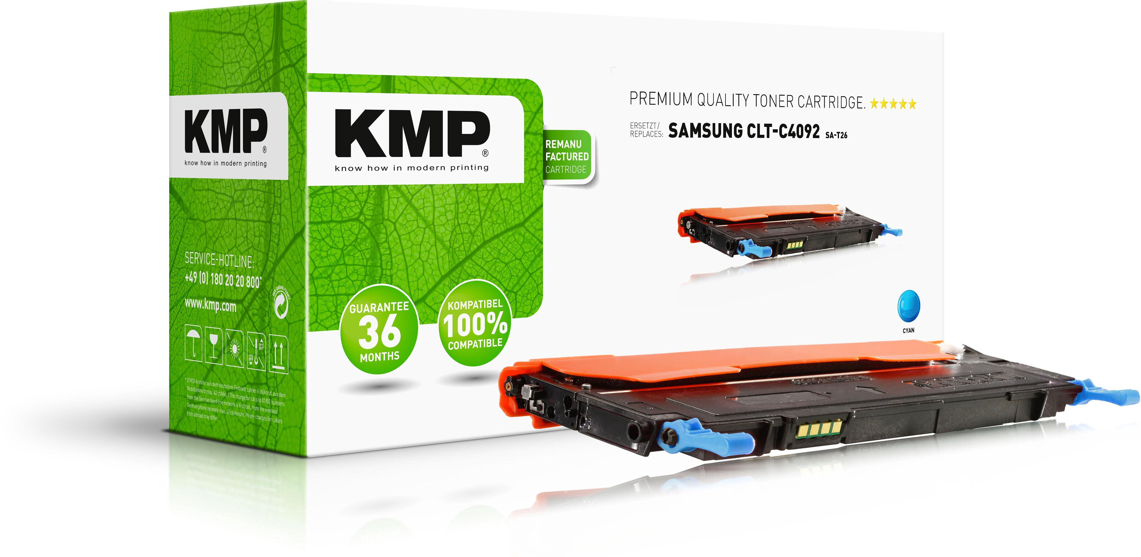 KMP Toner-Kartusche cyan (1363,0003, SA-T26)