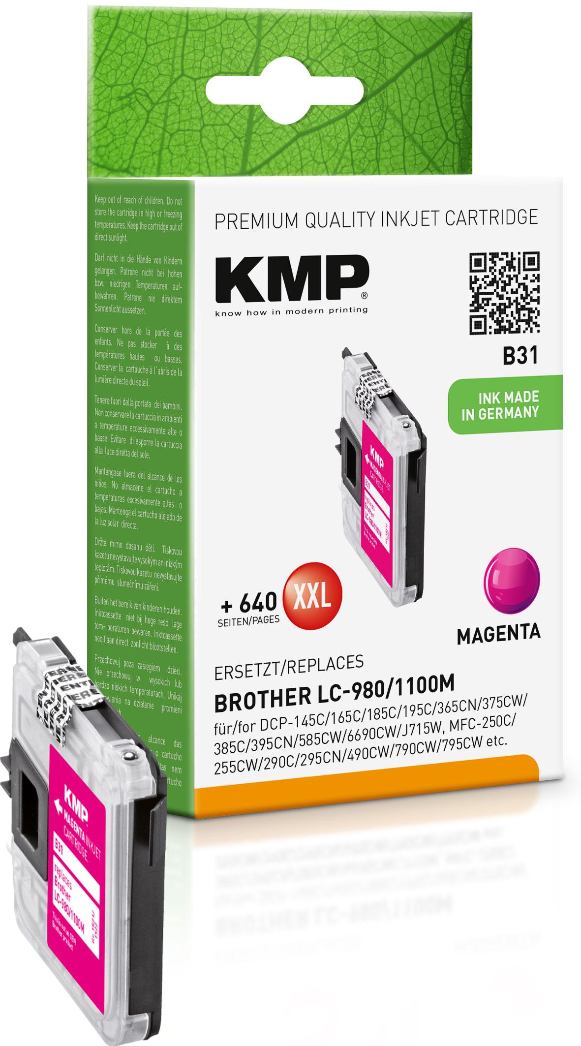 KMP Tintenpatrone magenta (1521,5226, B31)