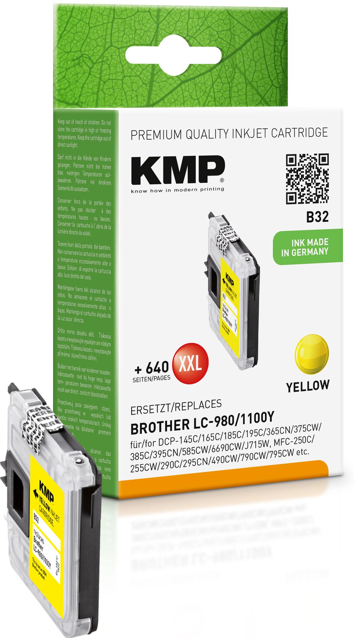 KMP Tintenpatrone gelb (1521,5229, B32)