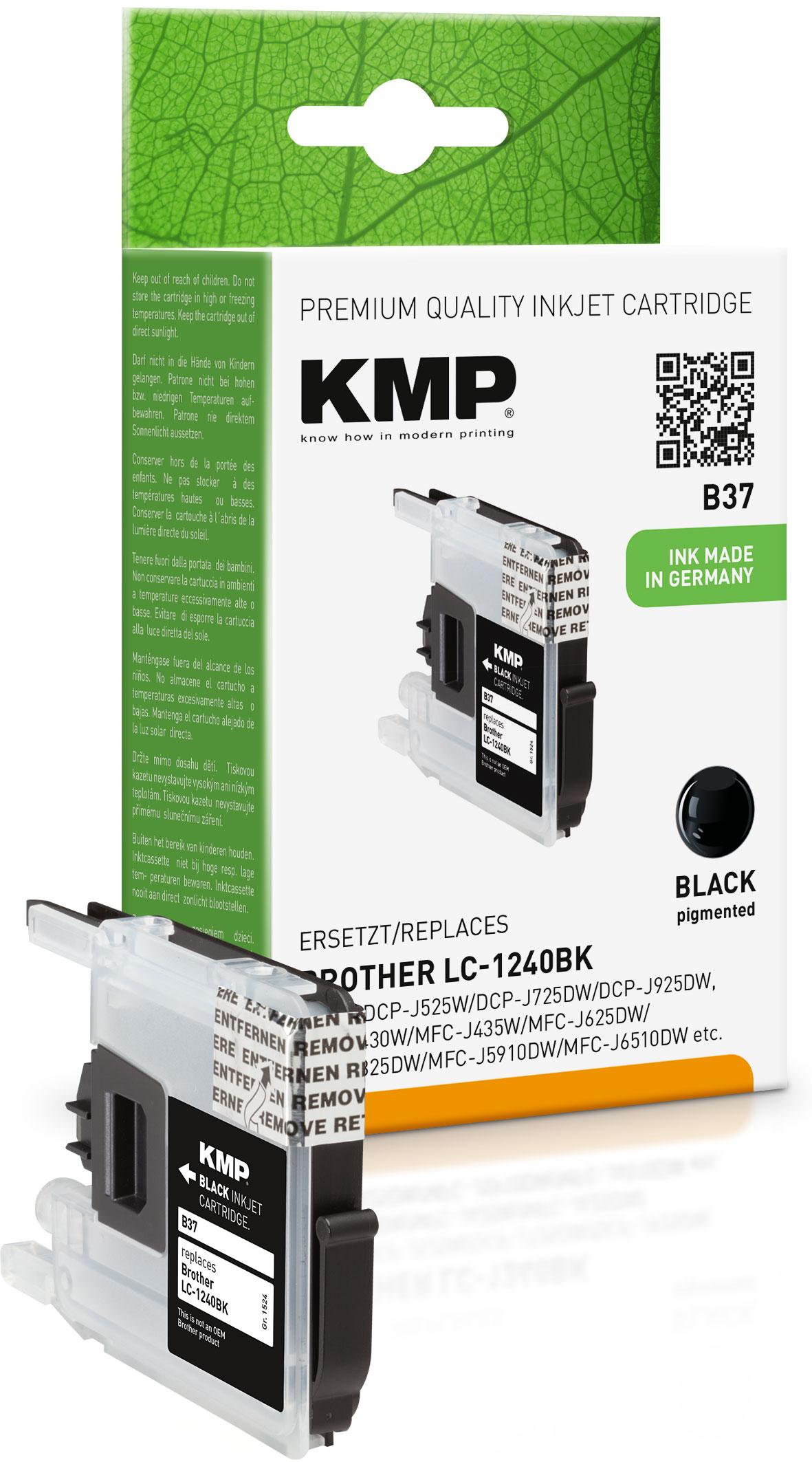 KMP Tintenpatrone schwarz (1524,0001, B37)
