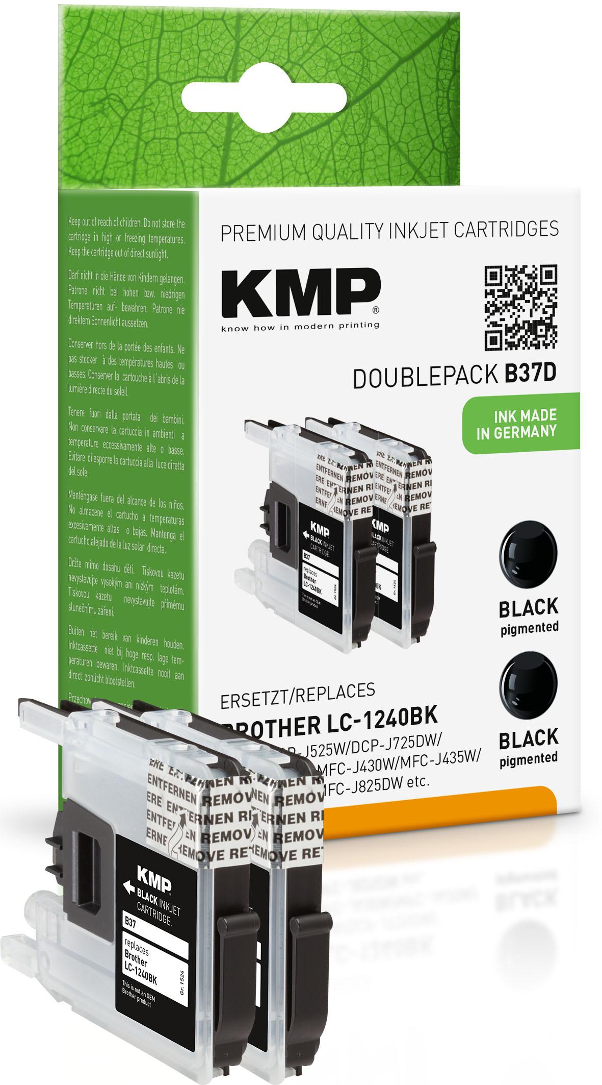 KMP Tintenpatrone 2x schwarz (1524,0021, B37D)