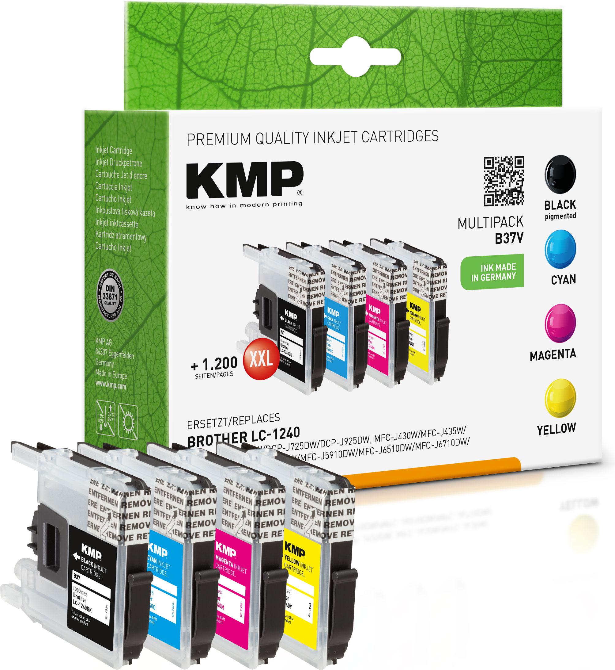 KMP Tintenpatrone gelb cyan magenta schwarz (1524,0050, B37V)