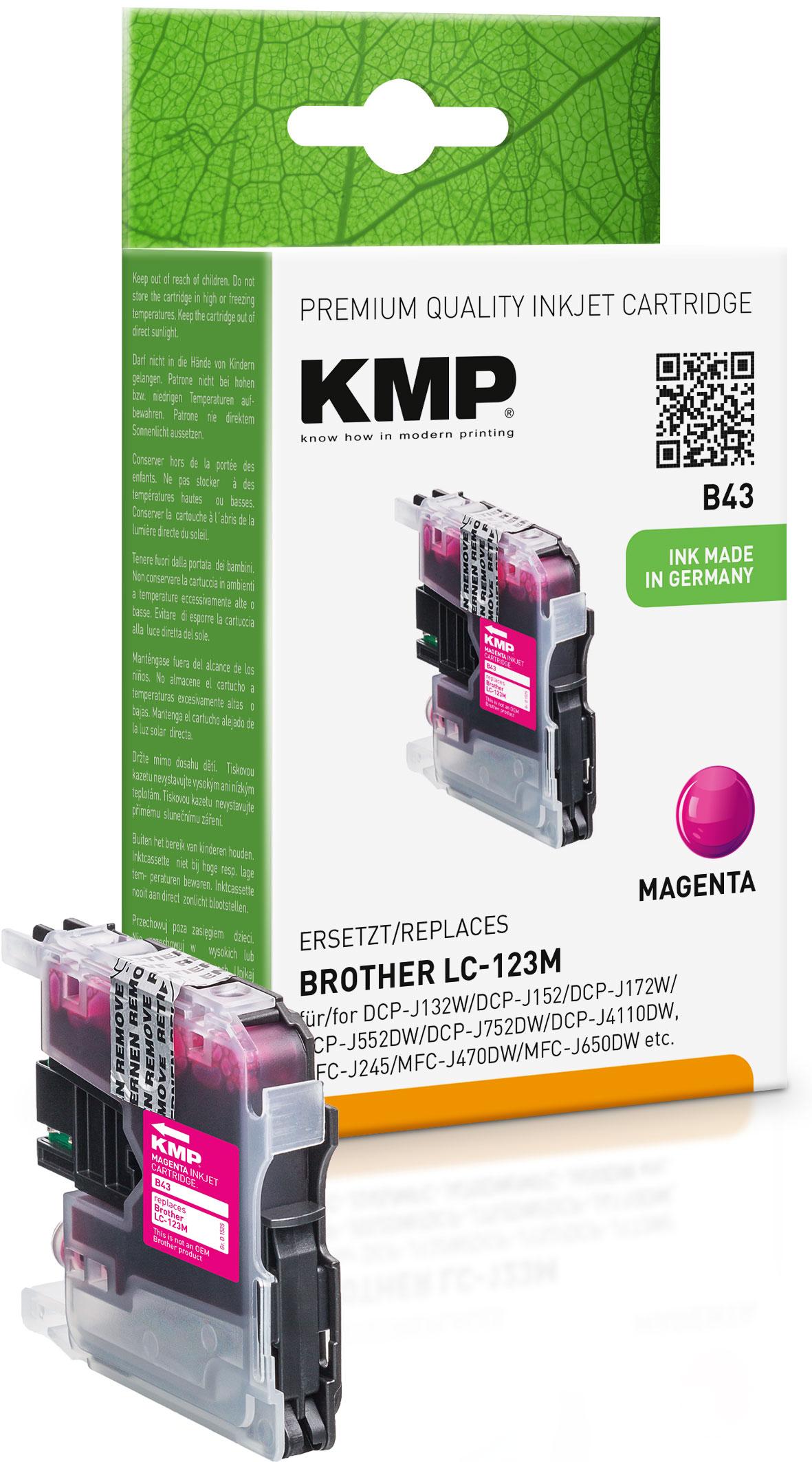 KMP Tintenpatrone magenta (1525,0006, B43)