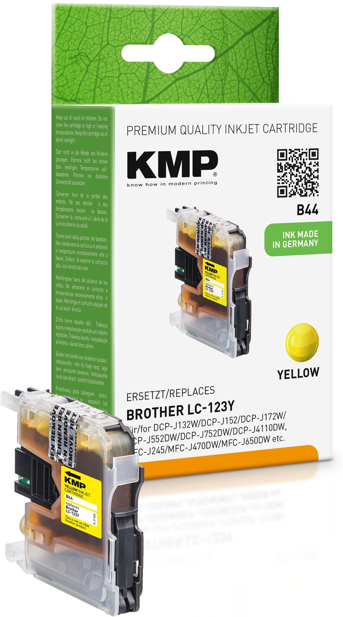 KMP Tintenpatrone gelb (1525,0009, B44)