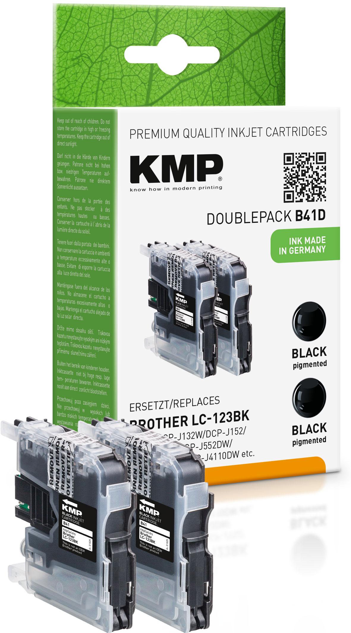 KMP Tintenpatrone 2x schwarz (1525,0021, B41D)