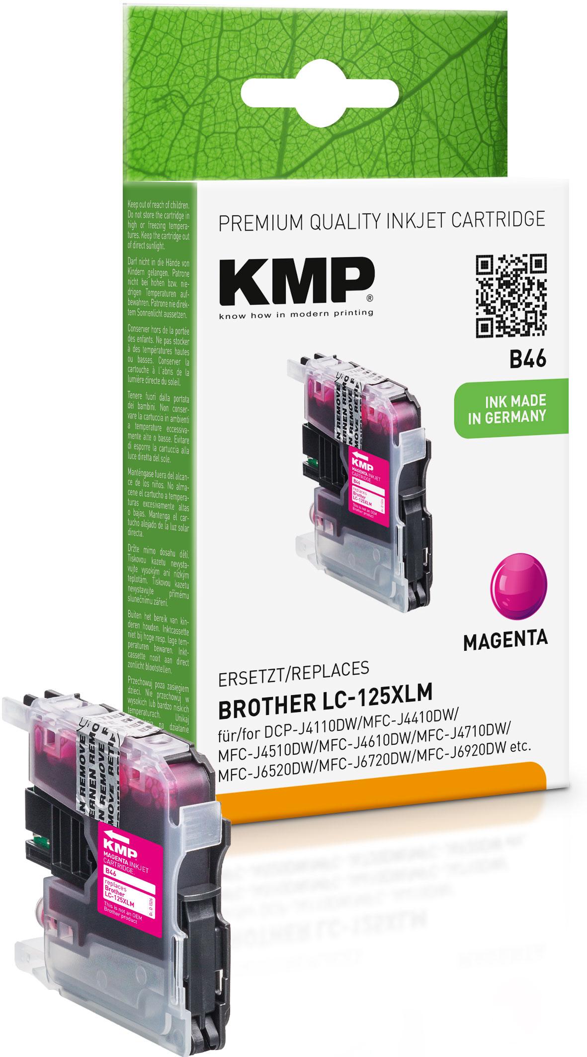 KMP Tintenpatrone magenta HC (1526,0006, B46)
