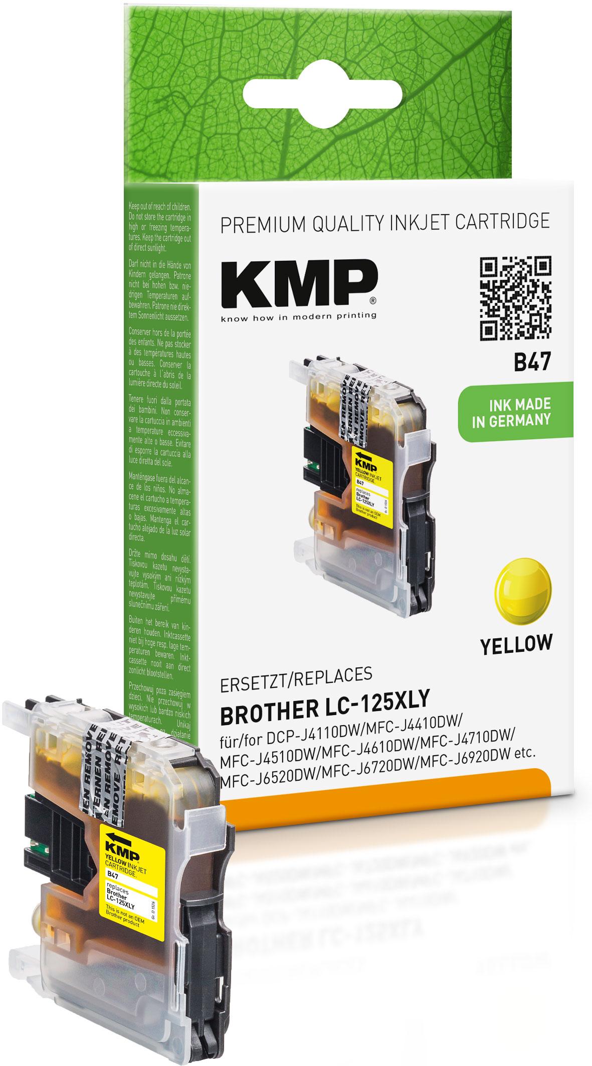 KMP Tintenpatrone gelb HC (1526,0009, B47)