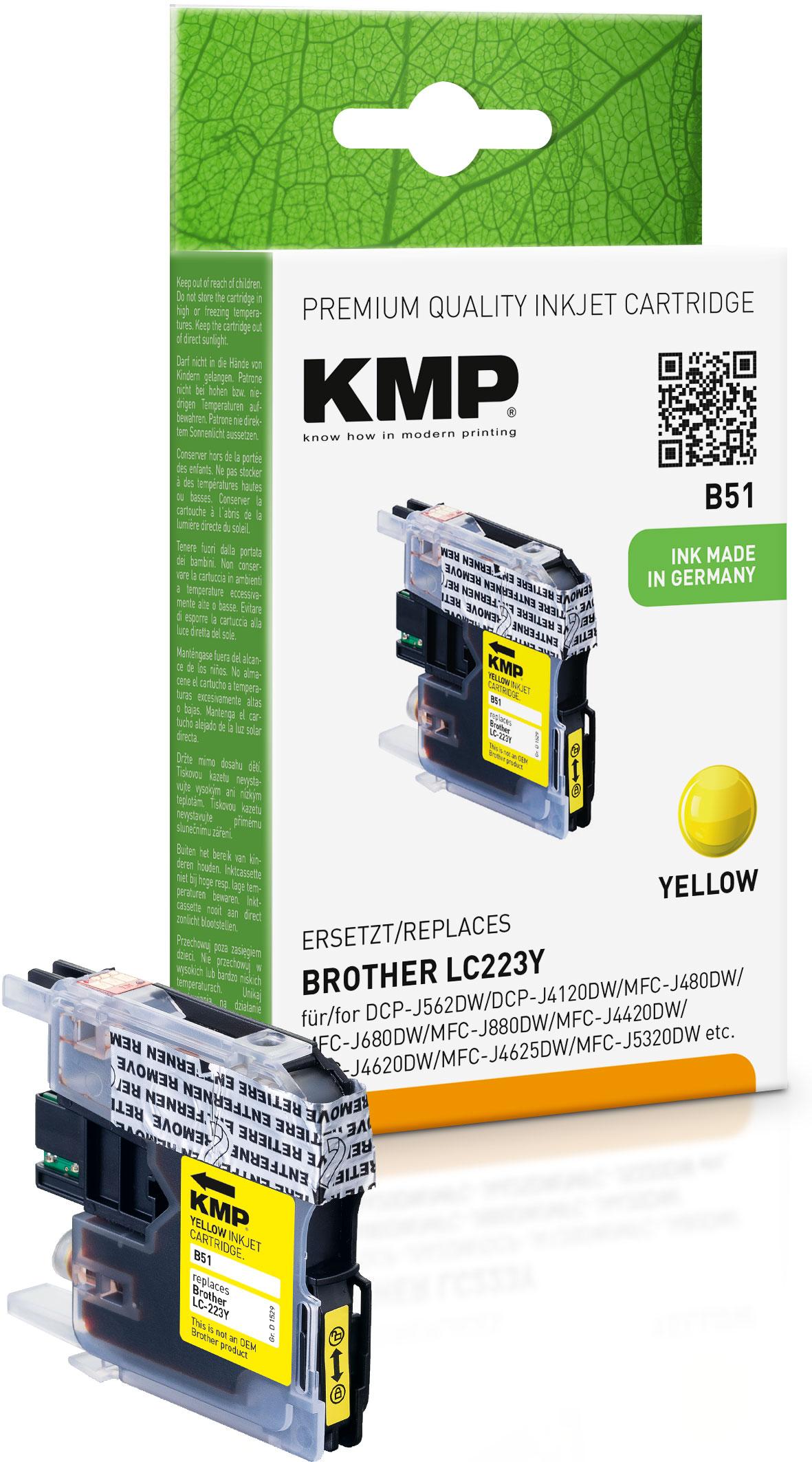 KMP Tintenpatrone gelb (1529,0009, B51)