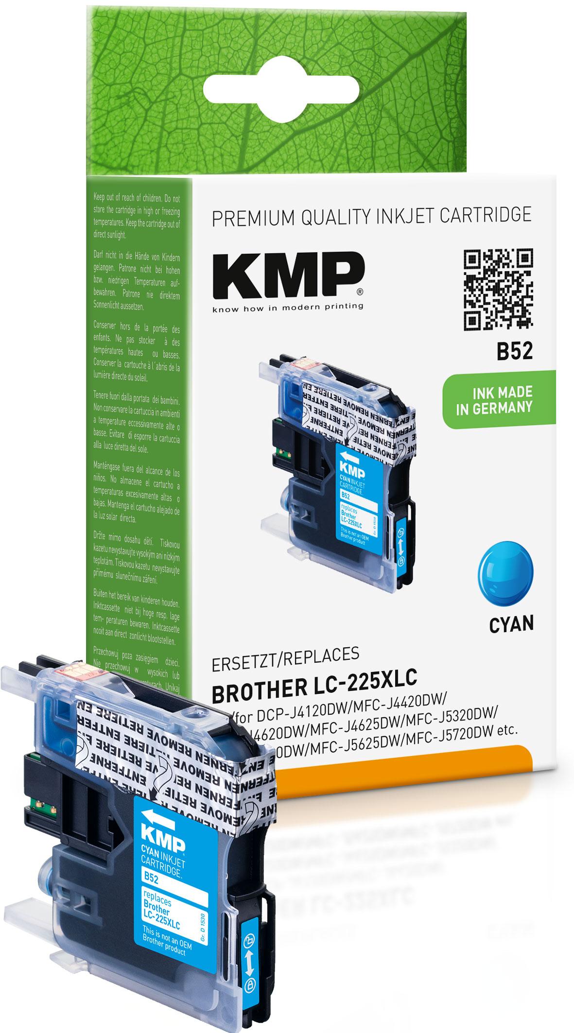 KMP Tintenpatrone cyan HC (1530,0003, B52)