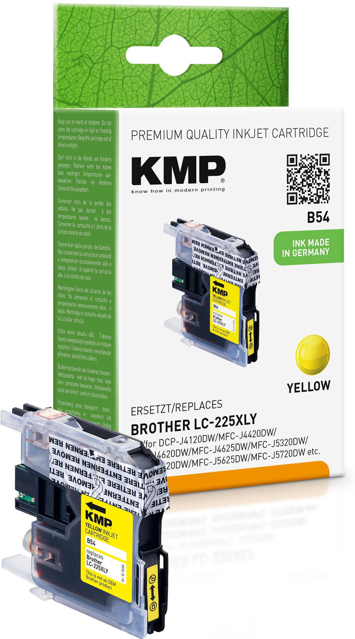 KMP Tintenpatrone gelb HC (1530,0009, B54)