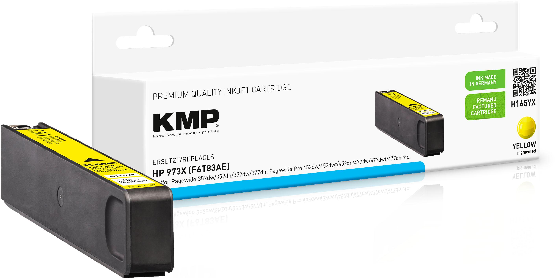 KMP Tintenpatrone gelb HC (1753,4009, H165YX)