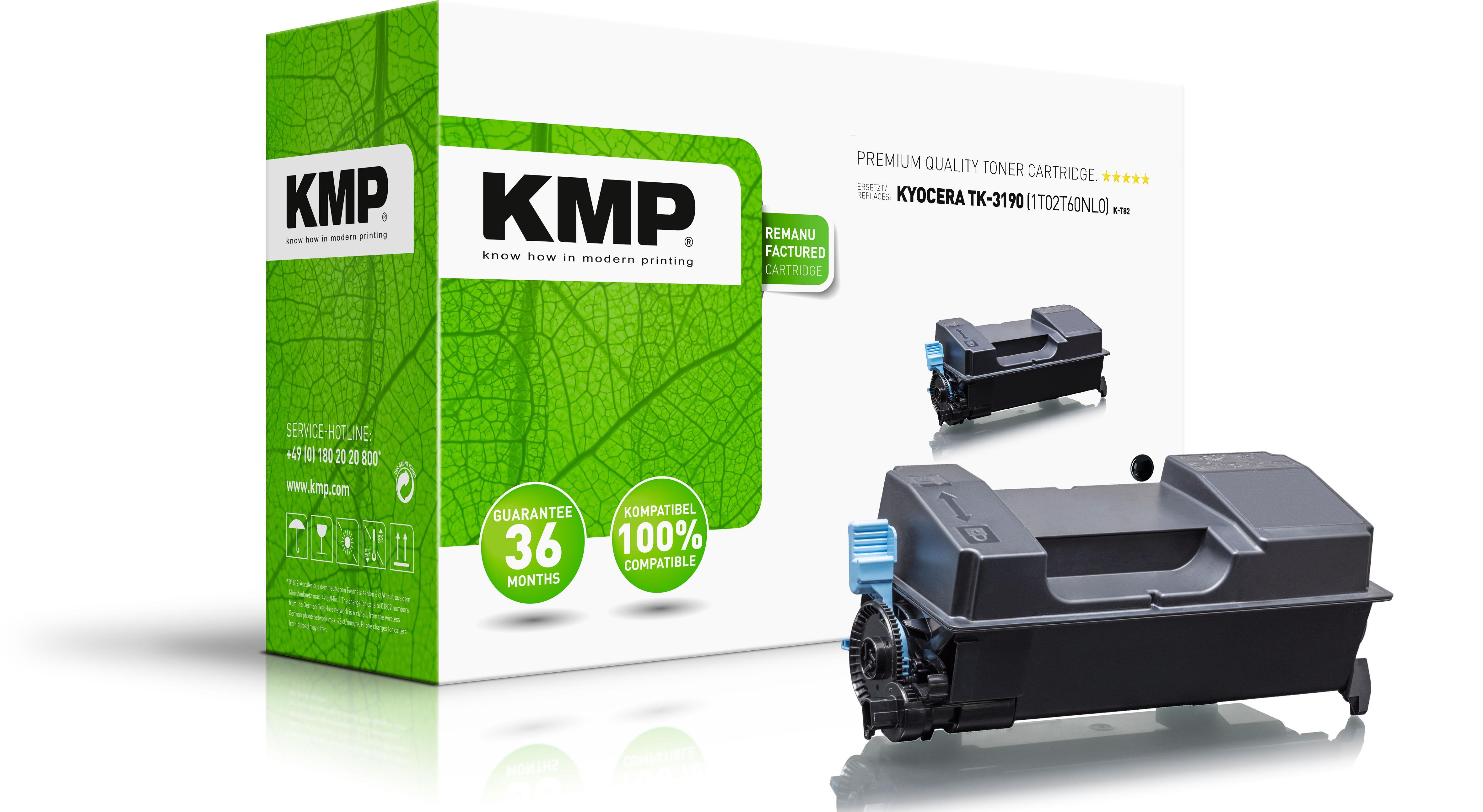 KMP Toner-Kartusche schwarz HC plus (2919,0000, K-T82)