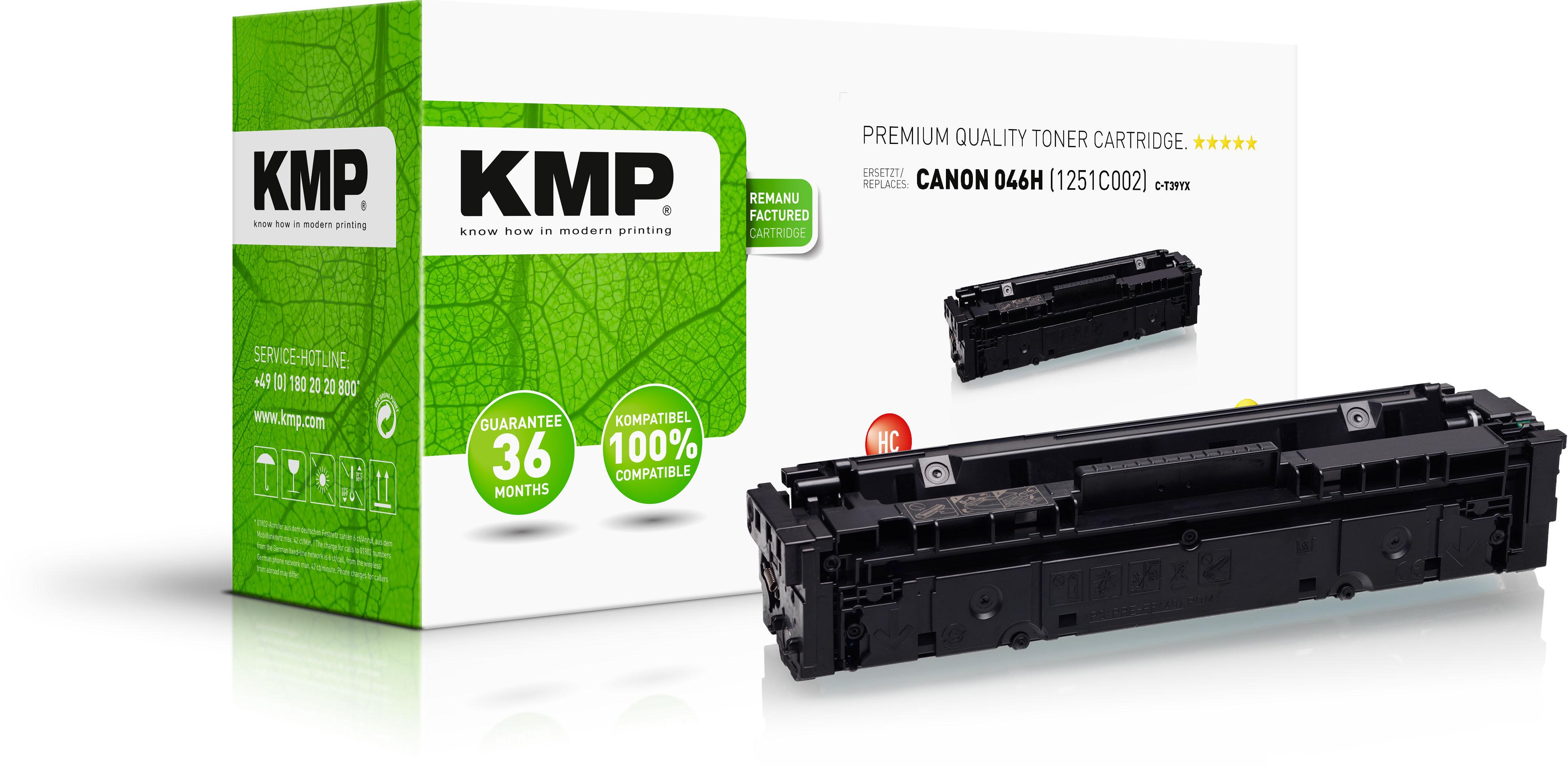 KMP Toner-Kartusche gelb HC (3605,3009, C-T39YX)