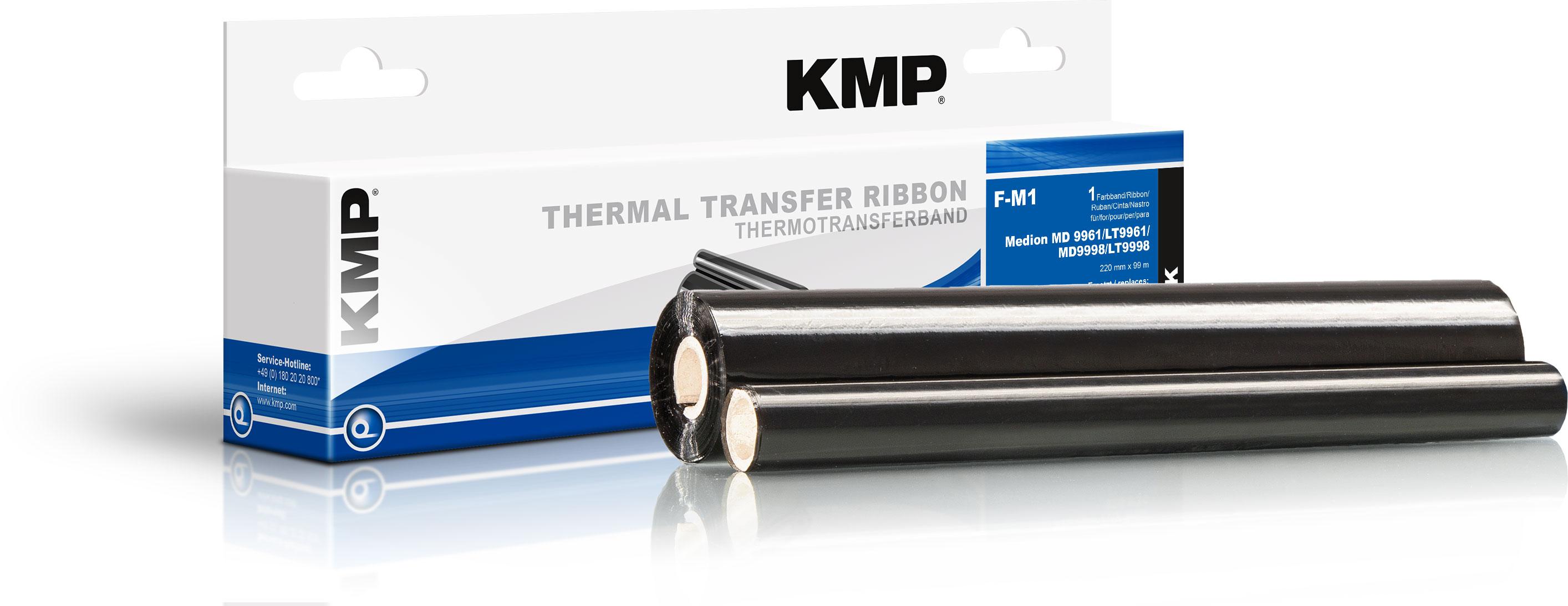 KMP Thermo-Transfer-Rolle schwarz (71000,0017, F-M1)